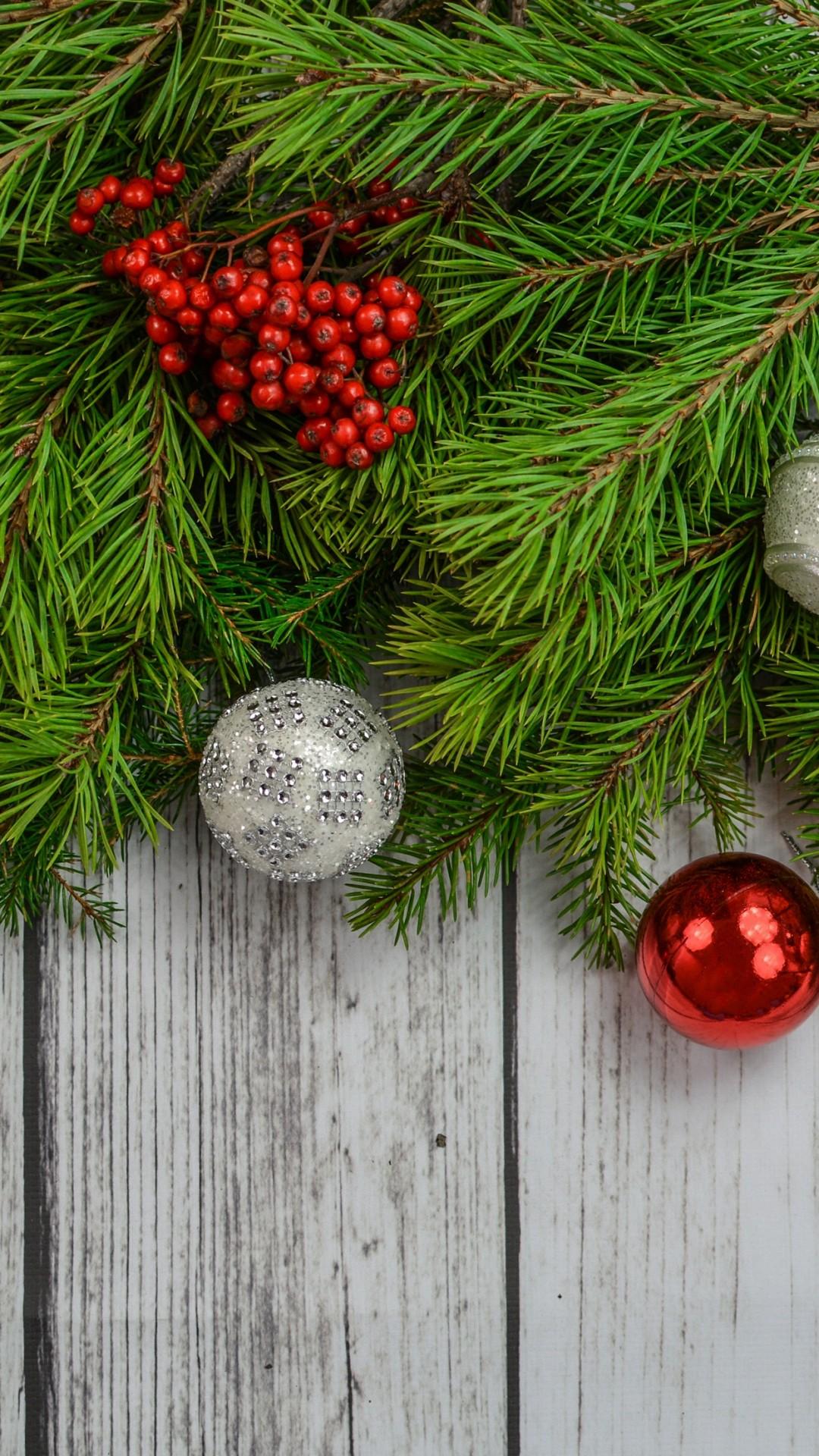 Wallpaper Christmas New Year Toys Fir Tree 4k