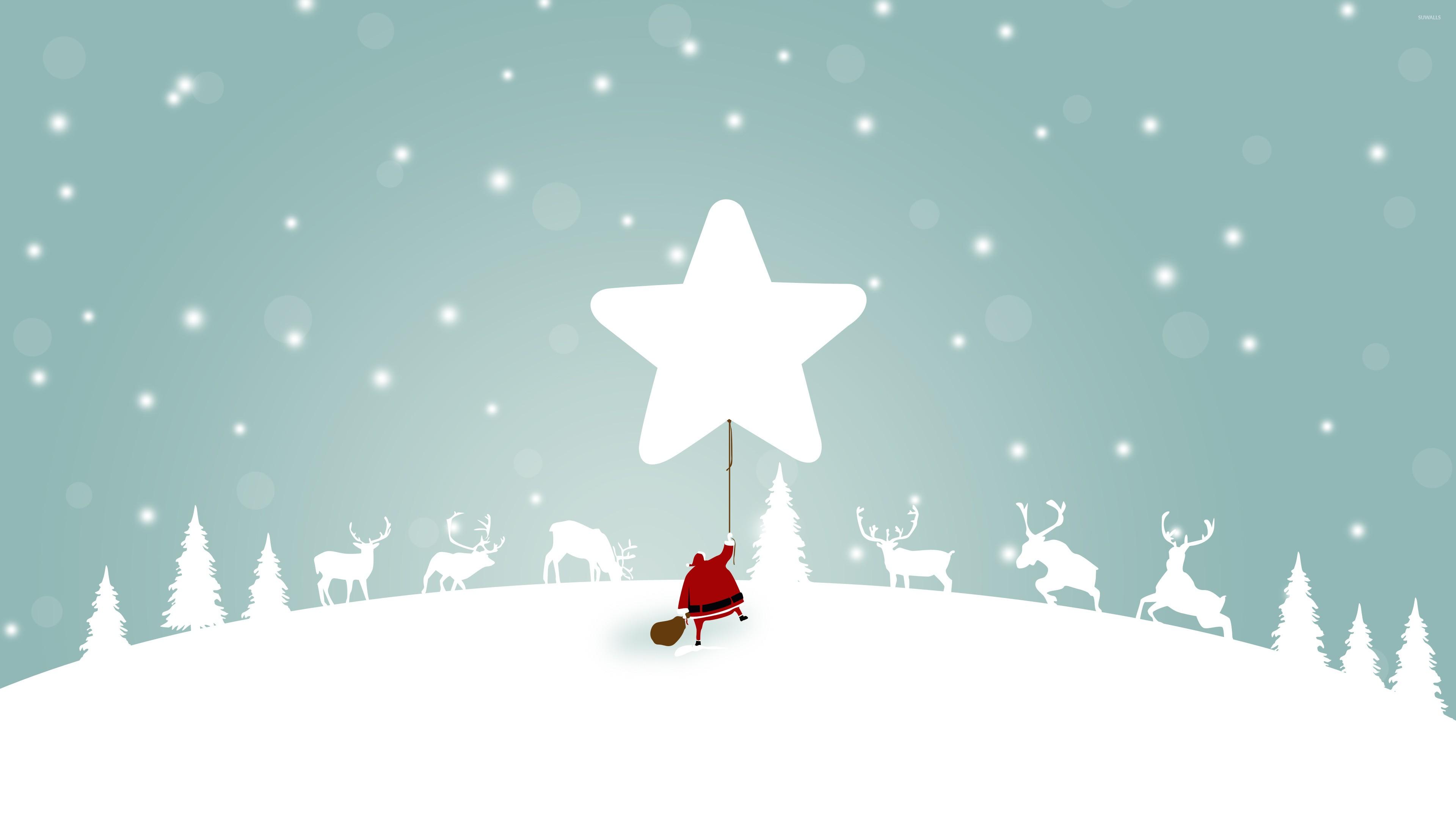 santa sky snow wallpaper - photo #14