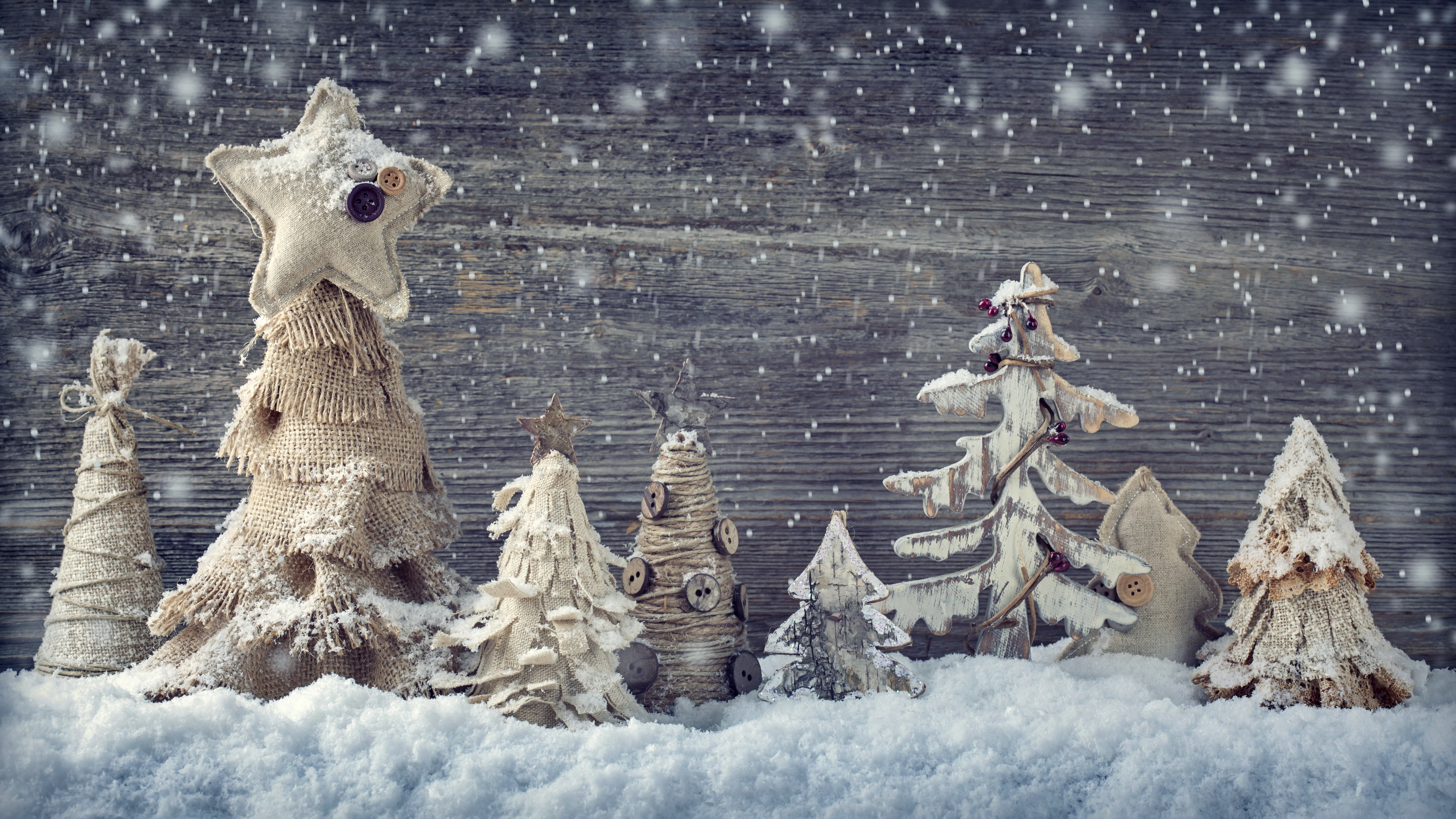 Wallpaper Christmas New Year Decorations Snow Holidays