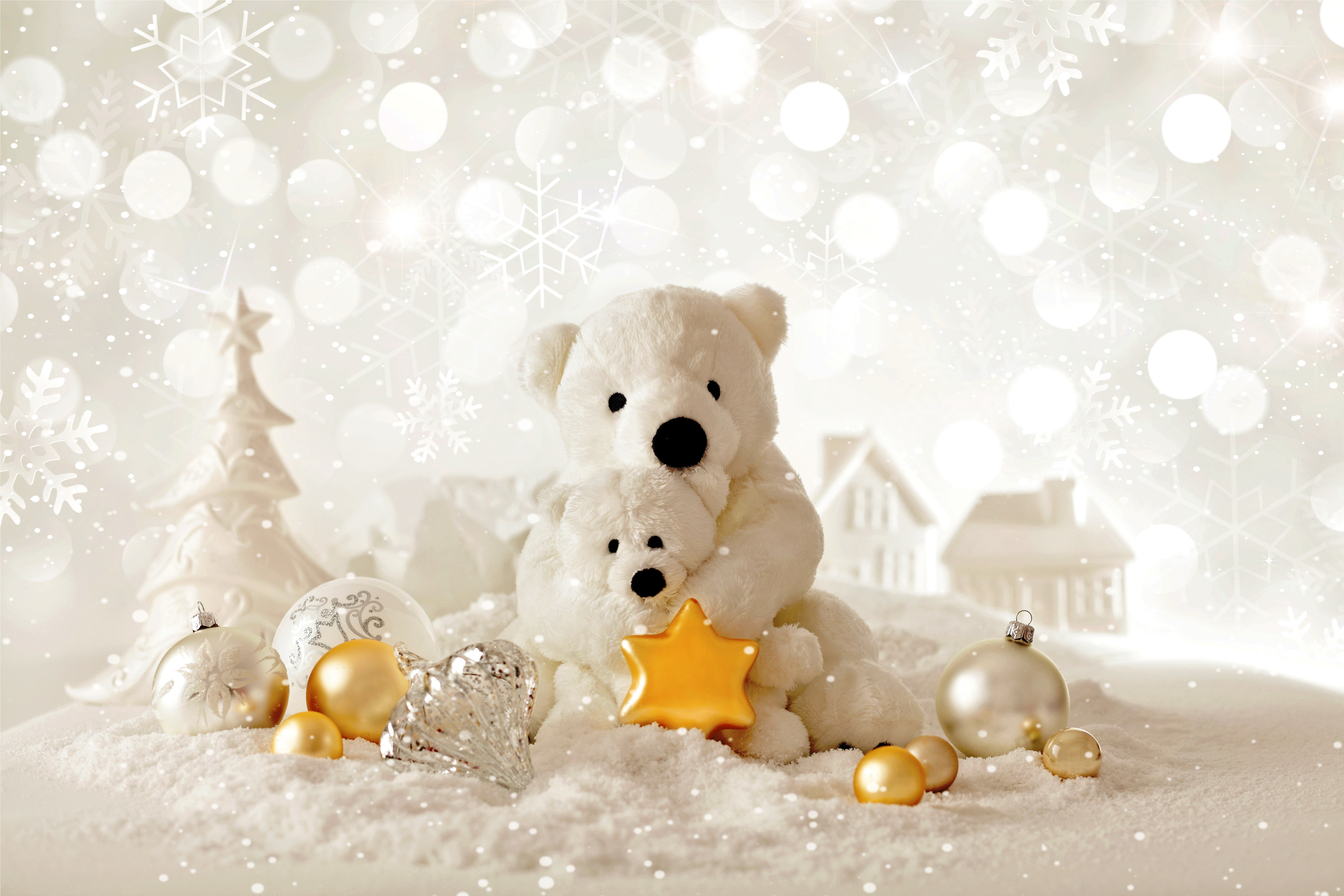 White christmas tree decorations quotes - Wallpaper Christmas New Year Bear Decorations Holidays