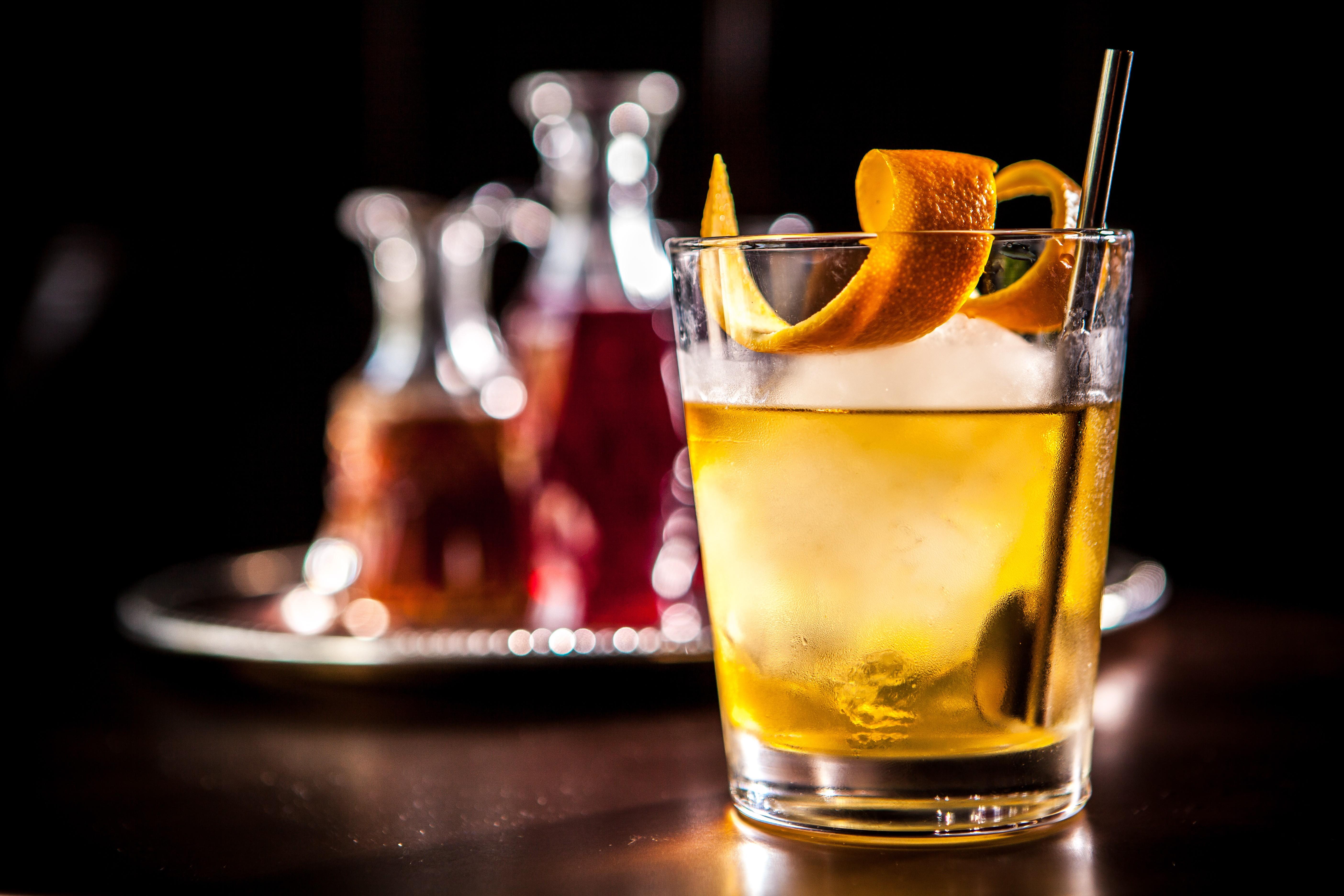Wallpaper Cocktails Whiskey Ice Orange Food 788