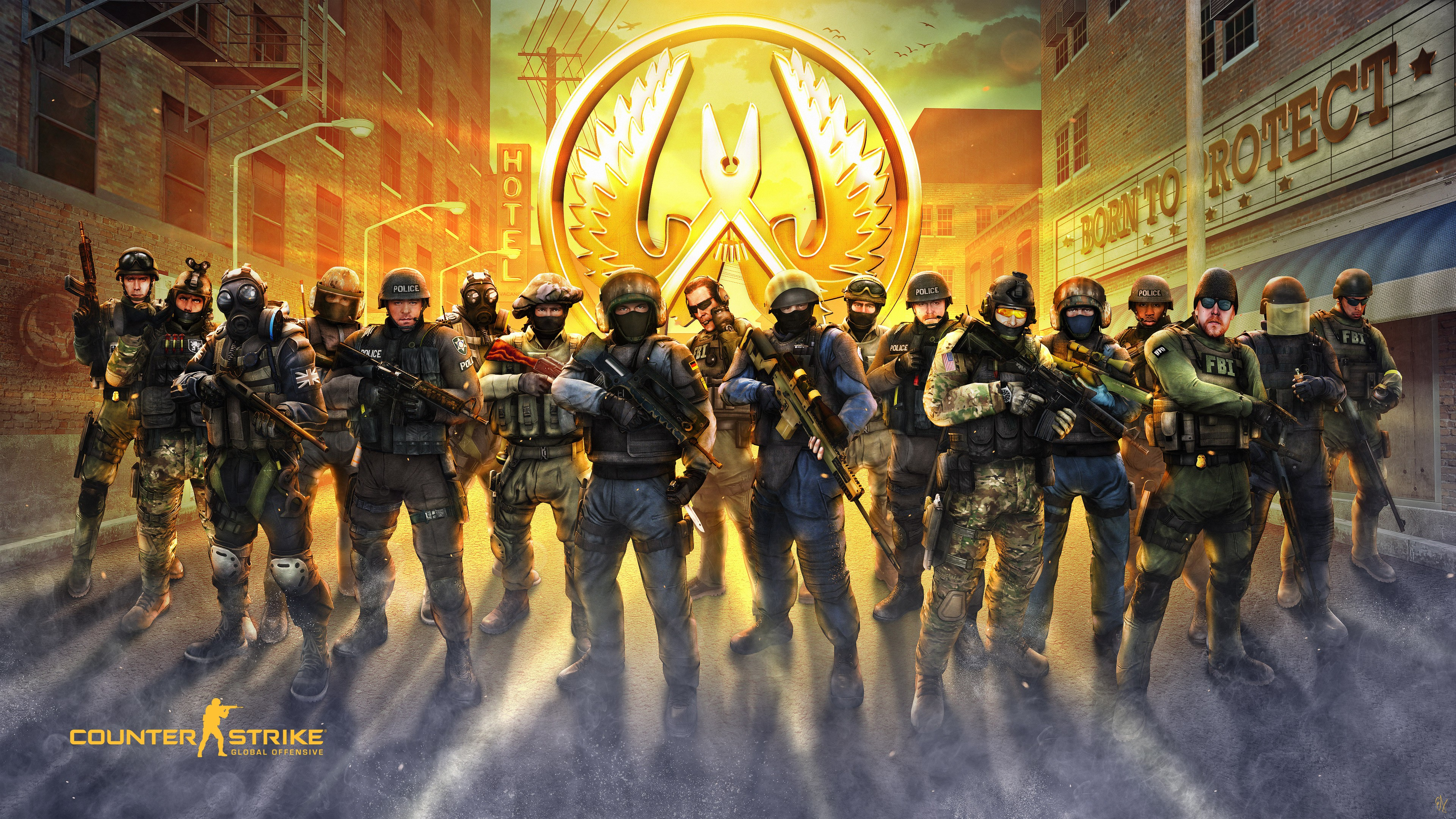 Wallpaper Counter-Strike: Global Offensive, 4k, Poster