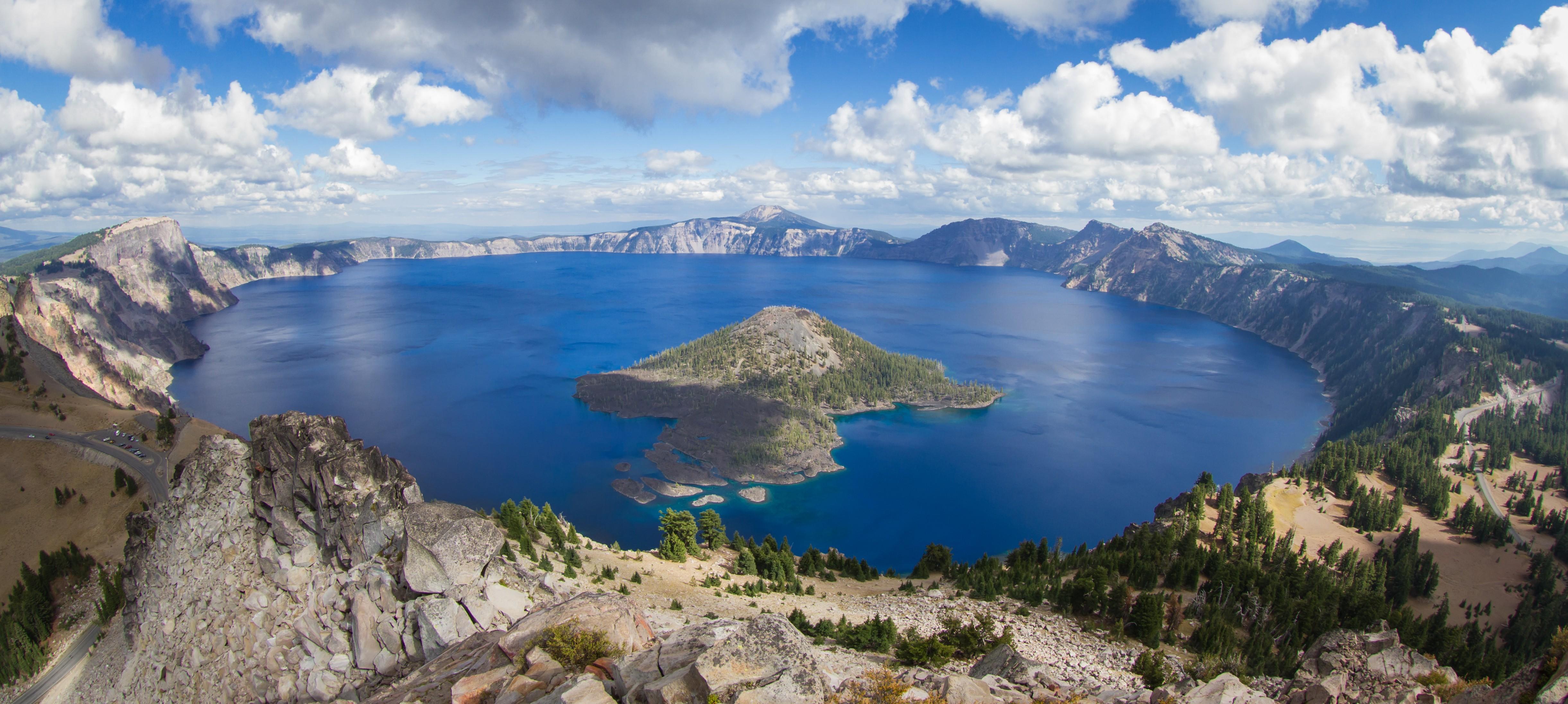 Wallpaper crater lake usa mountain nature 4k nature for Wallpaper home usa