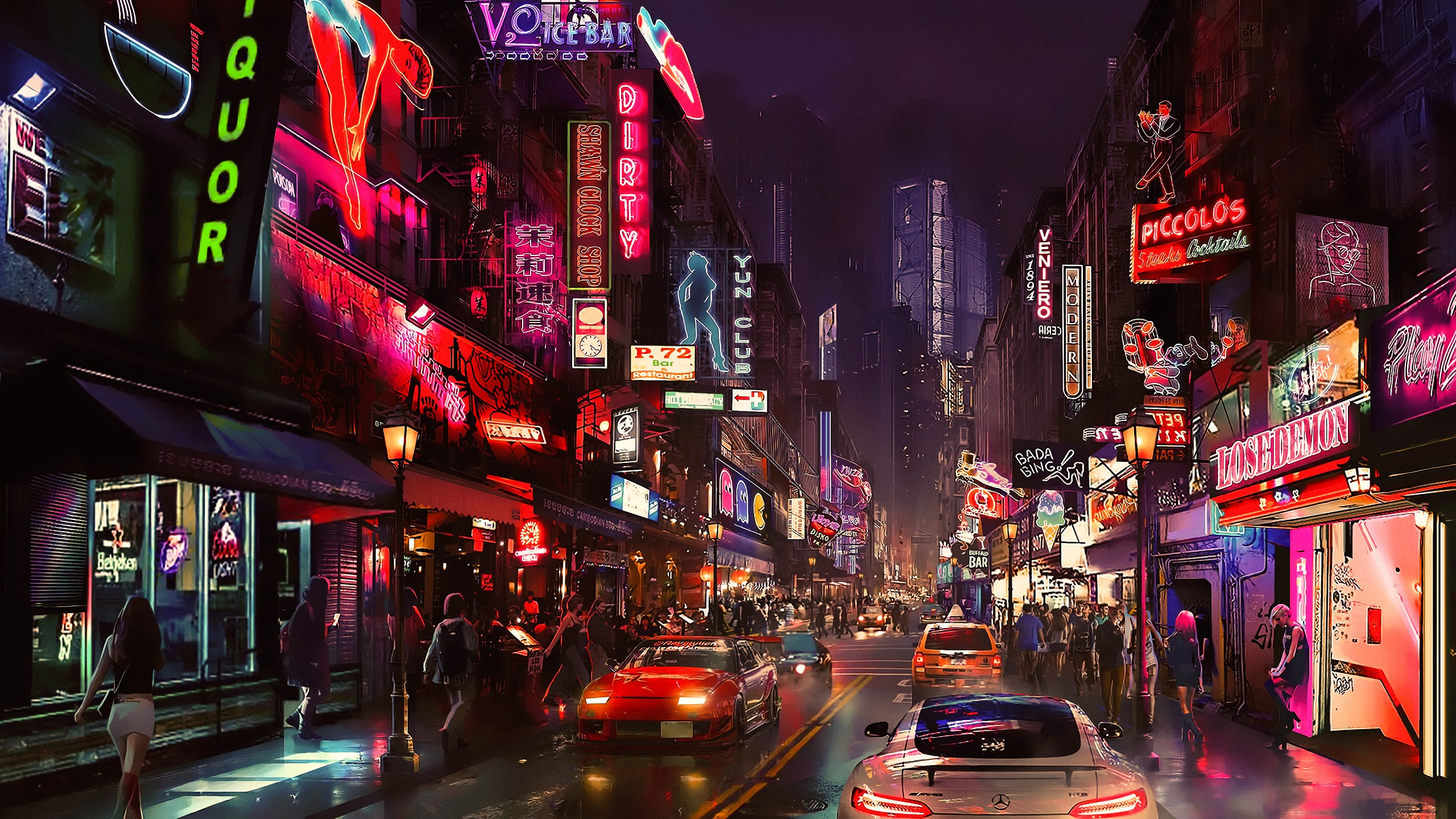 Wallpaper Cyberpunk Future World 4k Art 20320