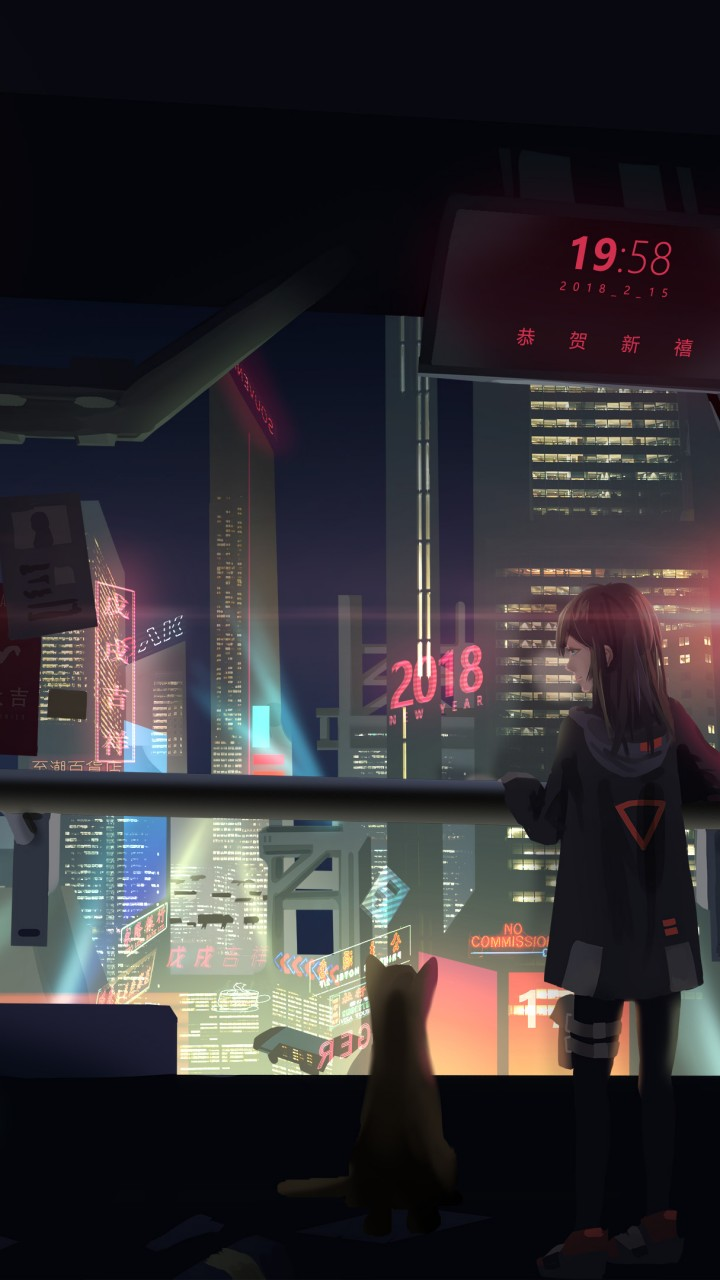 Wallpaper Cyberpunk Girl 4k Art 18556