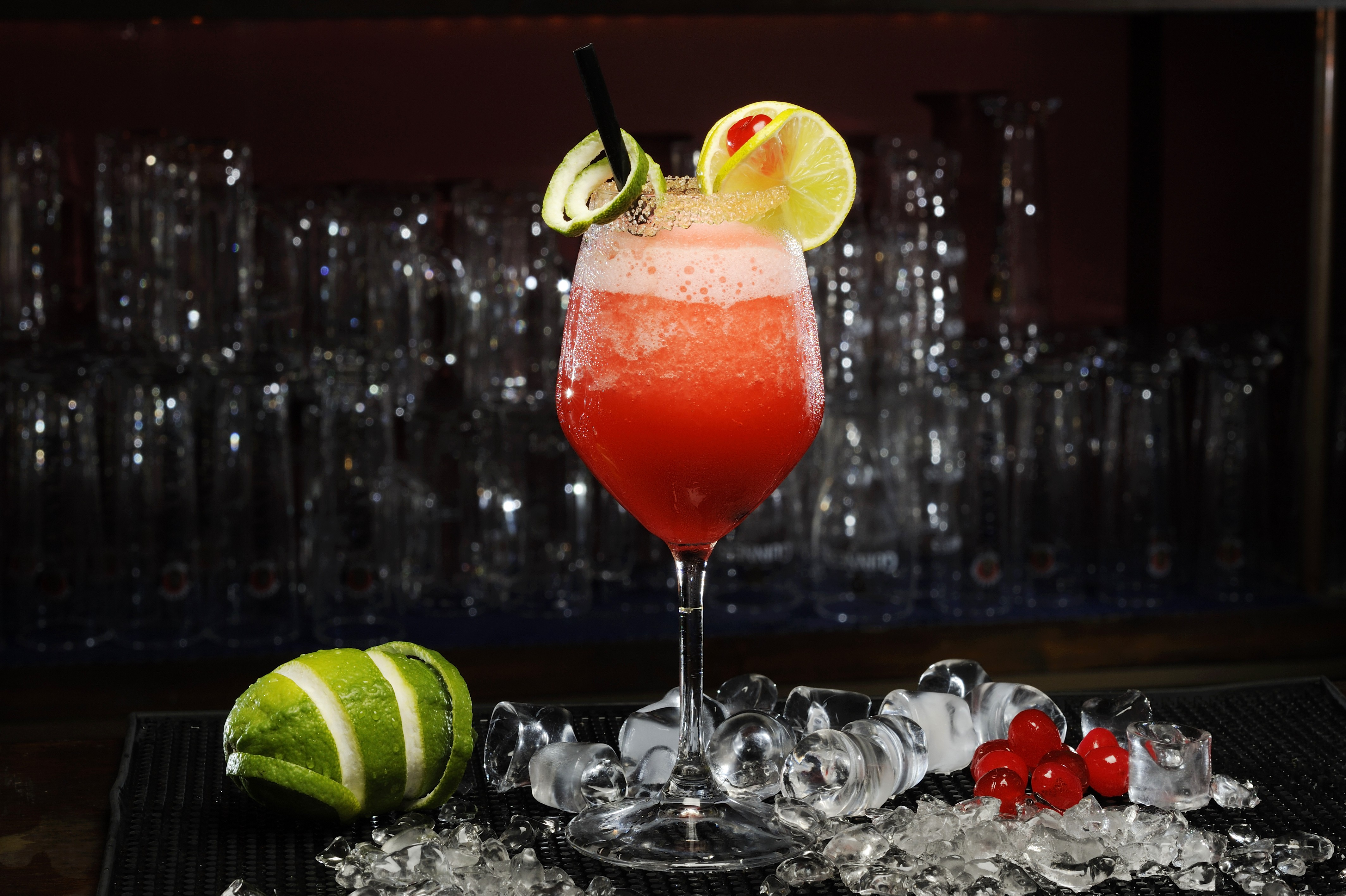 Cosmopolitan cocktail wallpaper  Wallpaper Daiquiri cocktail, lime, mint, cherry, Food #5123