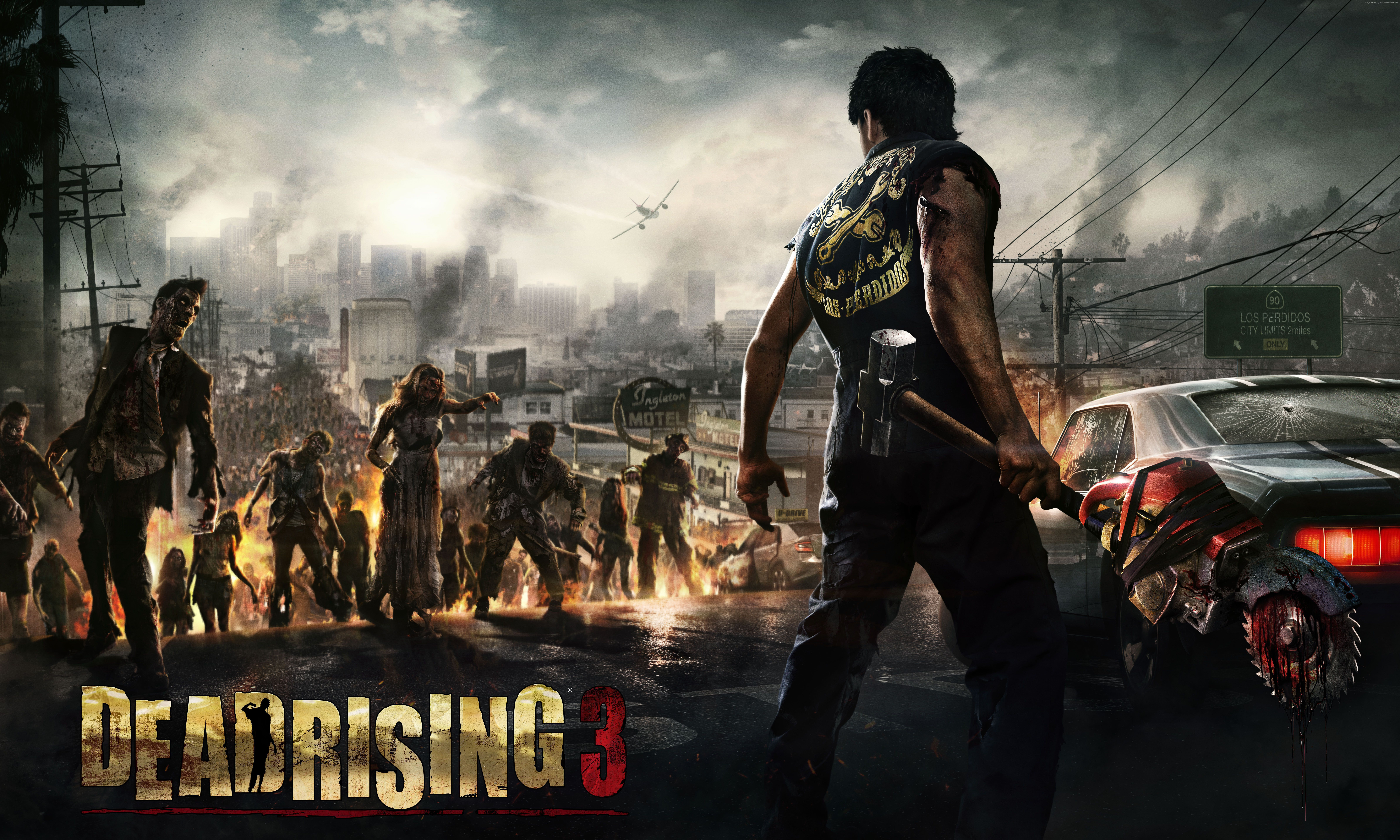 Wallpaper Dead Rising 3 Game Zombie Downtown Car Blood