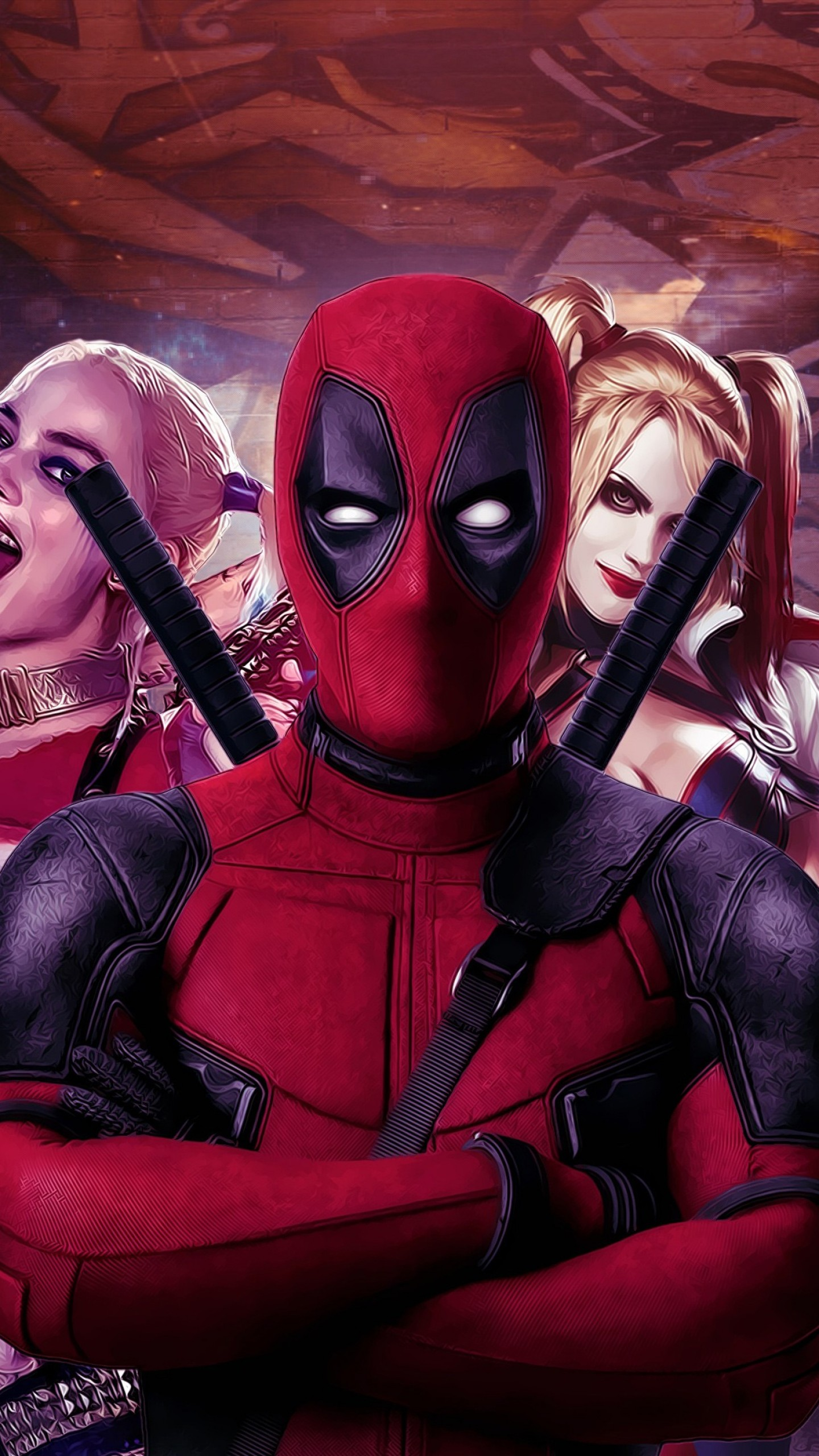 Wallpaper Deadpool Harley Quinn Suicide Squad Art Margot