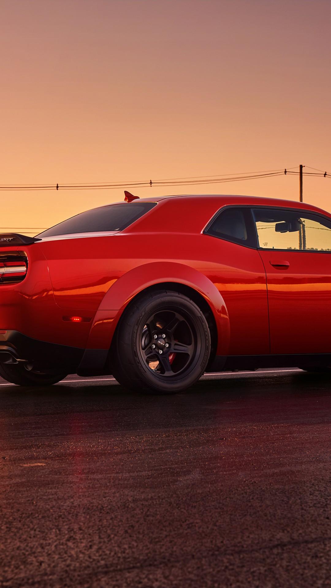 New Challenger Demon >> Wallpaper Dodge Challenger SRT Demon, red, 2017 New York