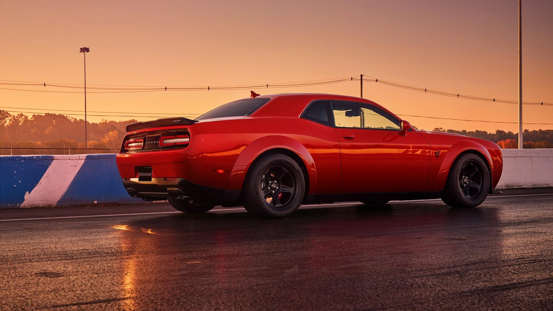 wallpaper dodge challenger srt demon  red  2017 new york auto show  cars  u0026 bikes  13356