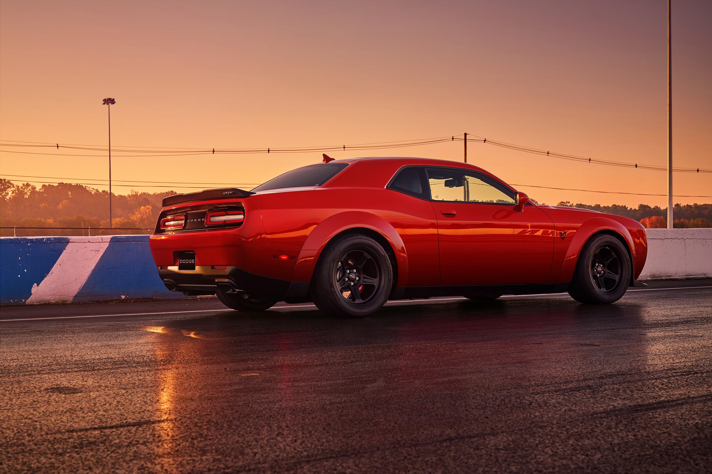 Wallpaper Dodge Challenger SRT Demon, red, 2017 New York ...
