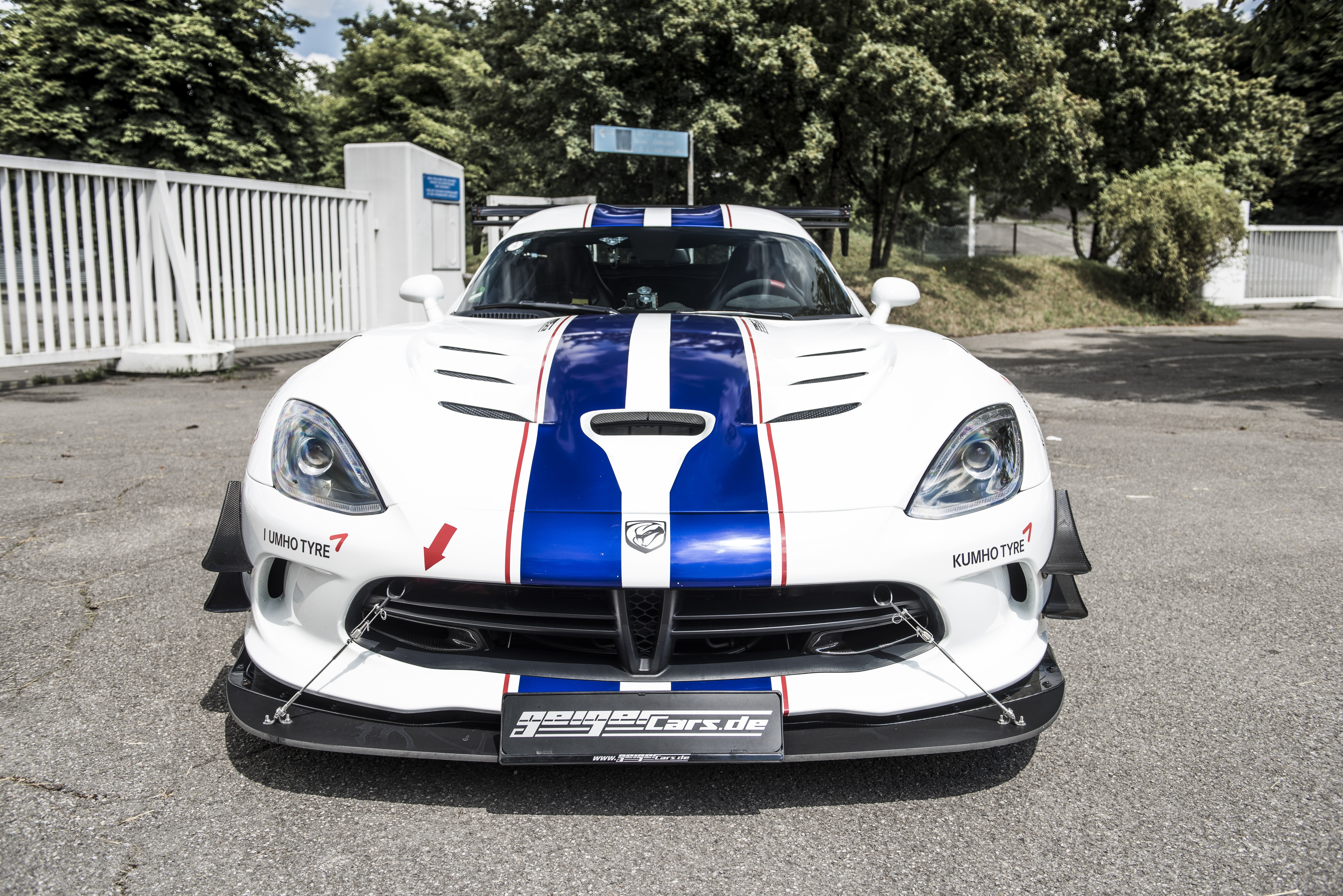 Wallpaper Dodge Viper Acr Geiger Cars White Speed Cars