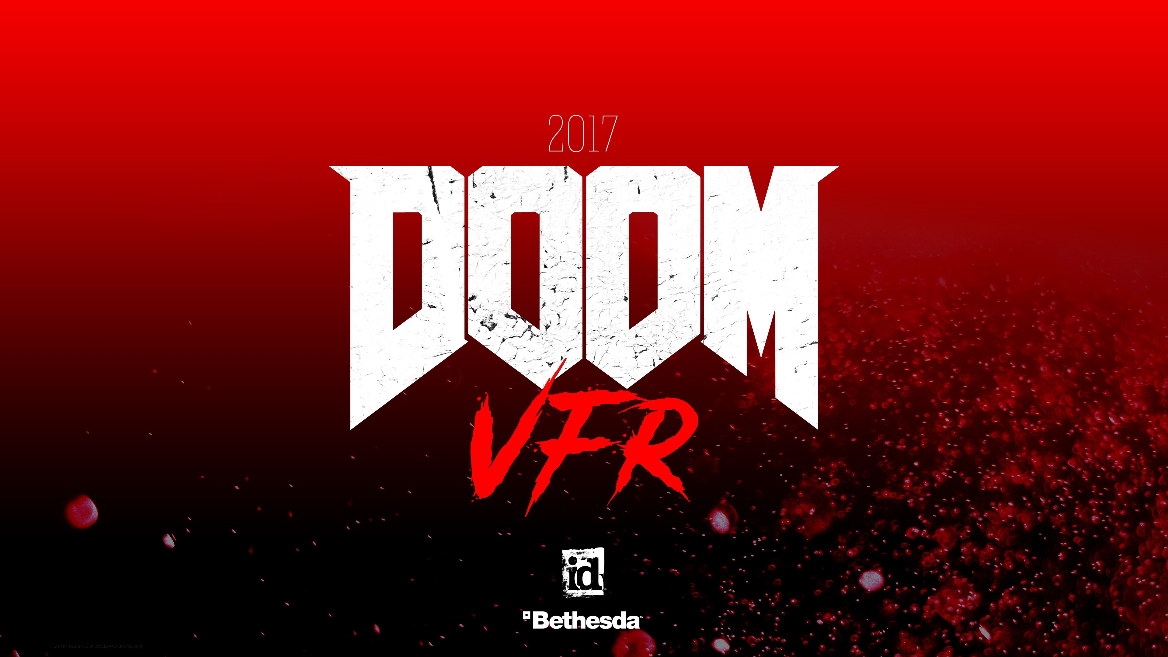 Wallpaper Doom VFR 4k 2017 VR E3 Games 13724