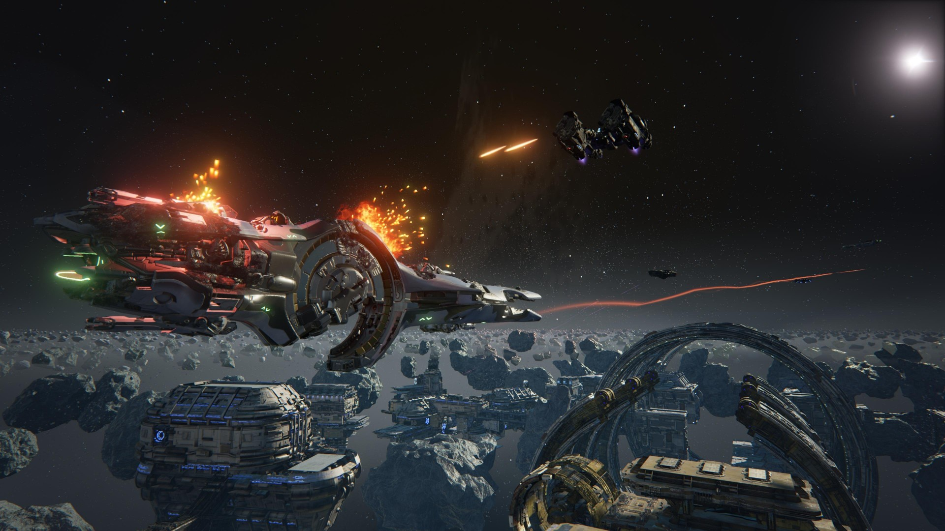 Wallpaper Dreadnought Space Ship Pc Ps 4 Xbox One