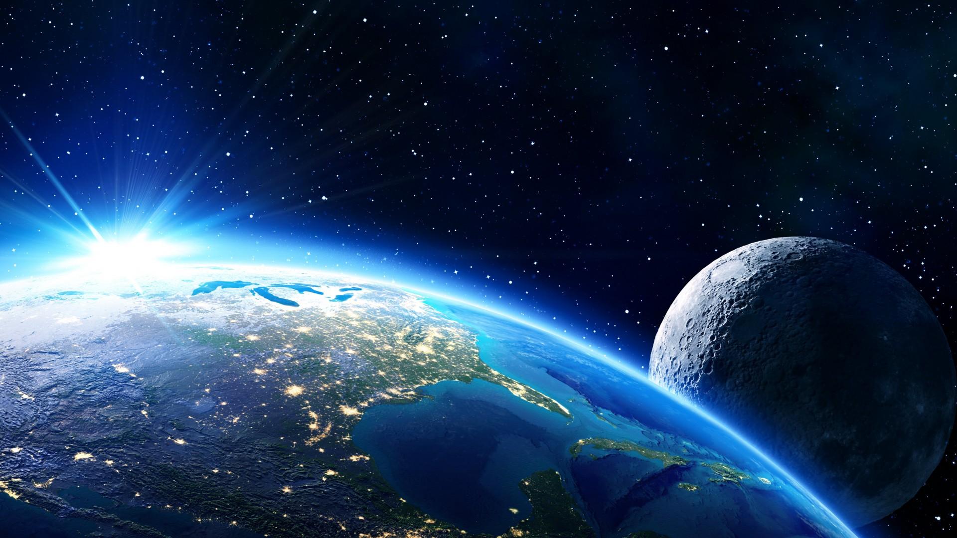Wallpaper earth moon planet star 5k space 16639 - Space moon wallpaper ...