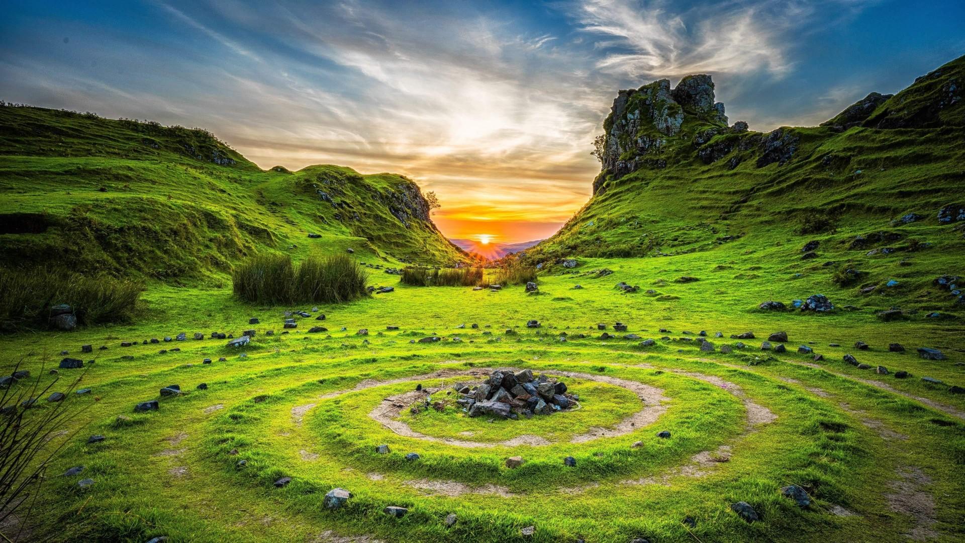 Wallpaper Fairy Glen Isle Of Skye Scotland Europe Nature