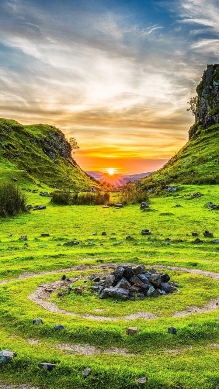 Wallpaper Fairy Glen, Isle Of Skye, Scotland, Europe