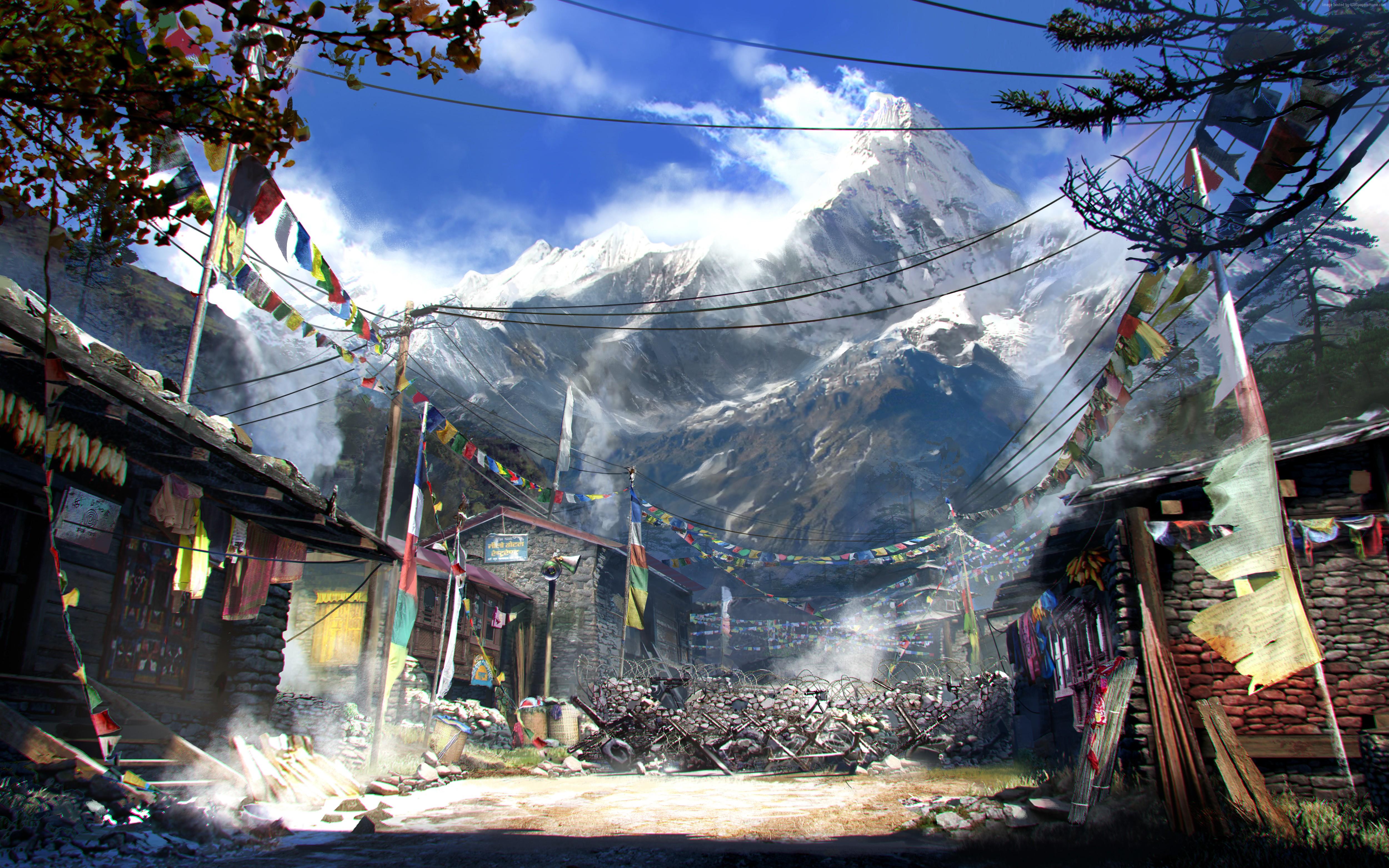 wallpaper far cry 4, game, open world, adventure games, shooter