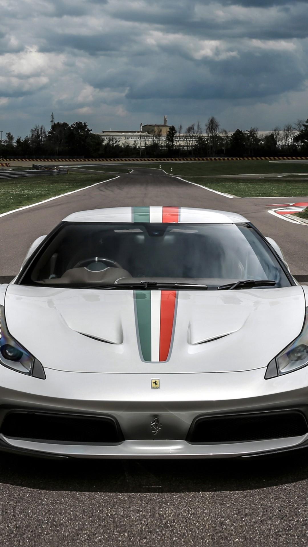Wallpaper Ferrari 458 Mm Speciale Sport Car White Cars