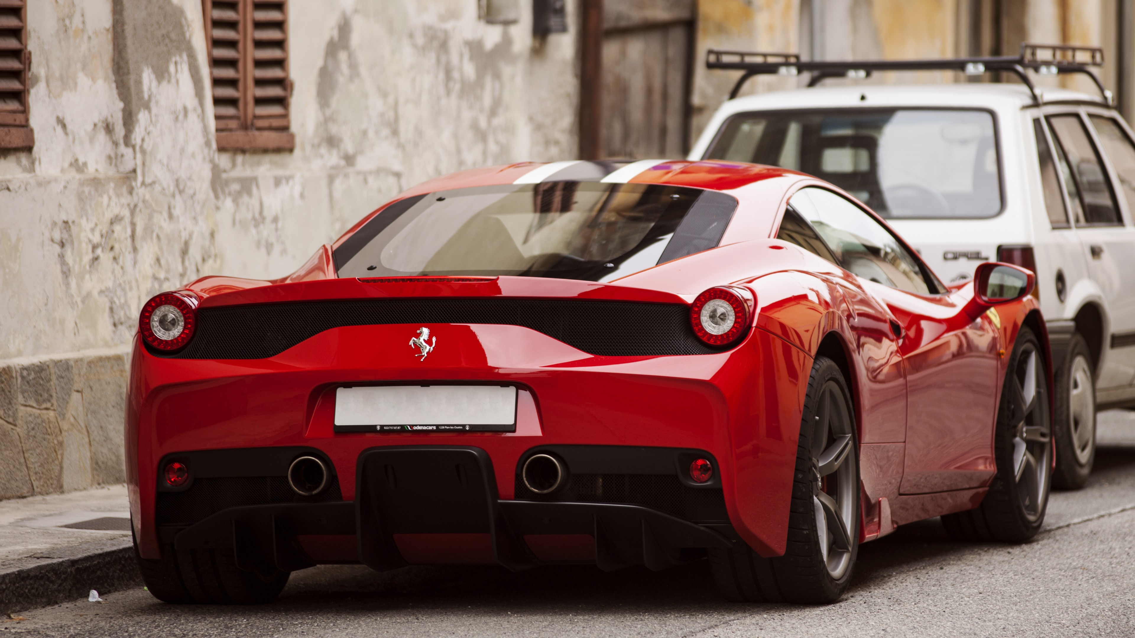 Wallpaper Ferrari 458 Speciale Supercar Back View Red HD Style Wallpapers Download free beautiful images and photos HD [prarshipsa.tk]