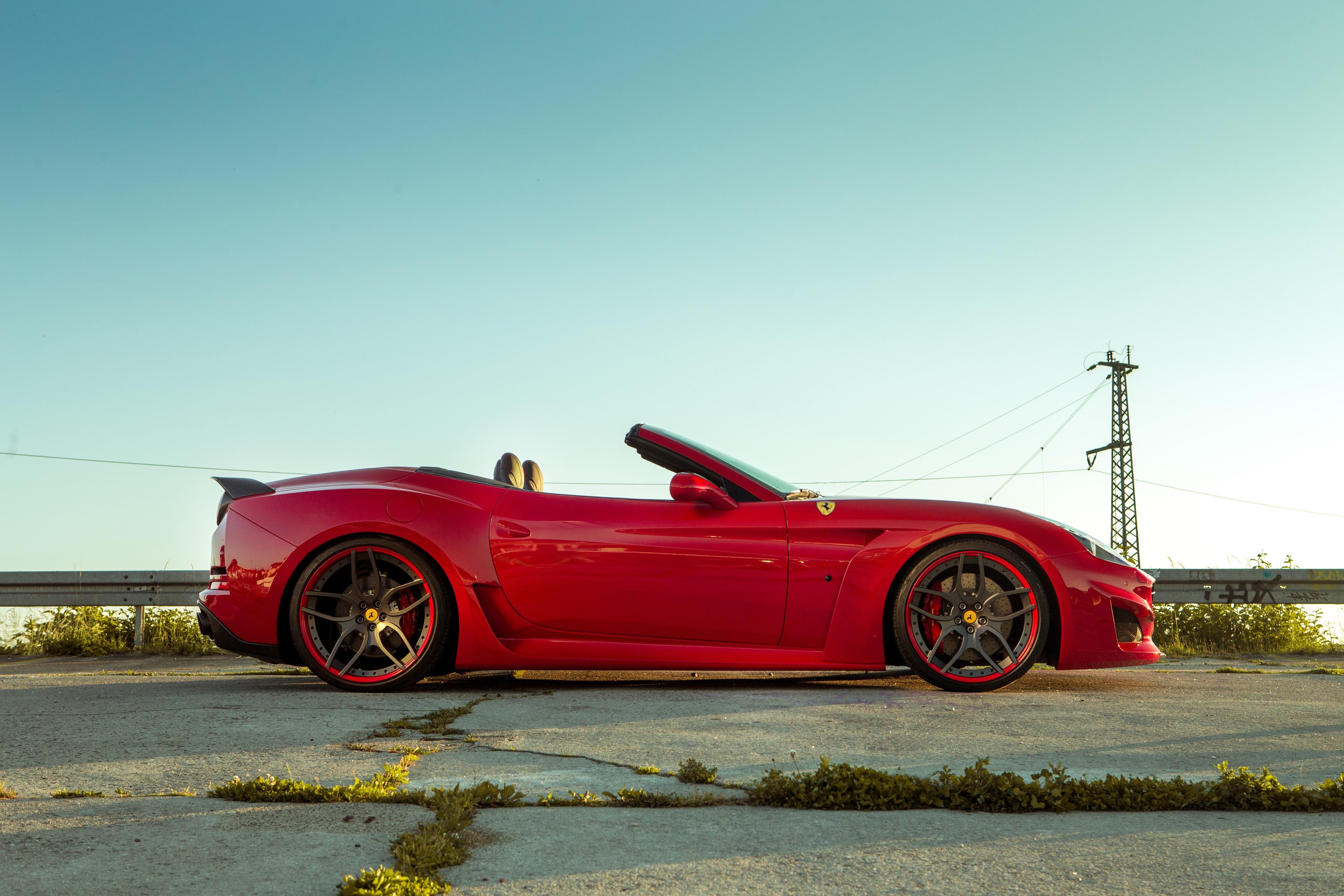 Wallpaper Ferrari California T N Largo Novitec Rosso Red