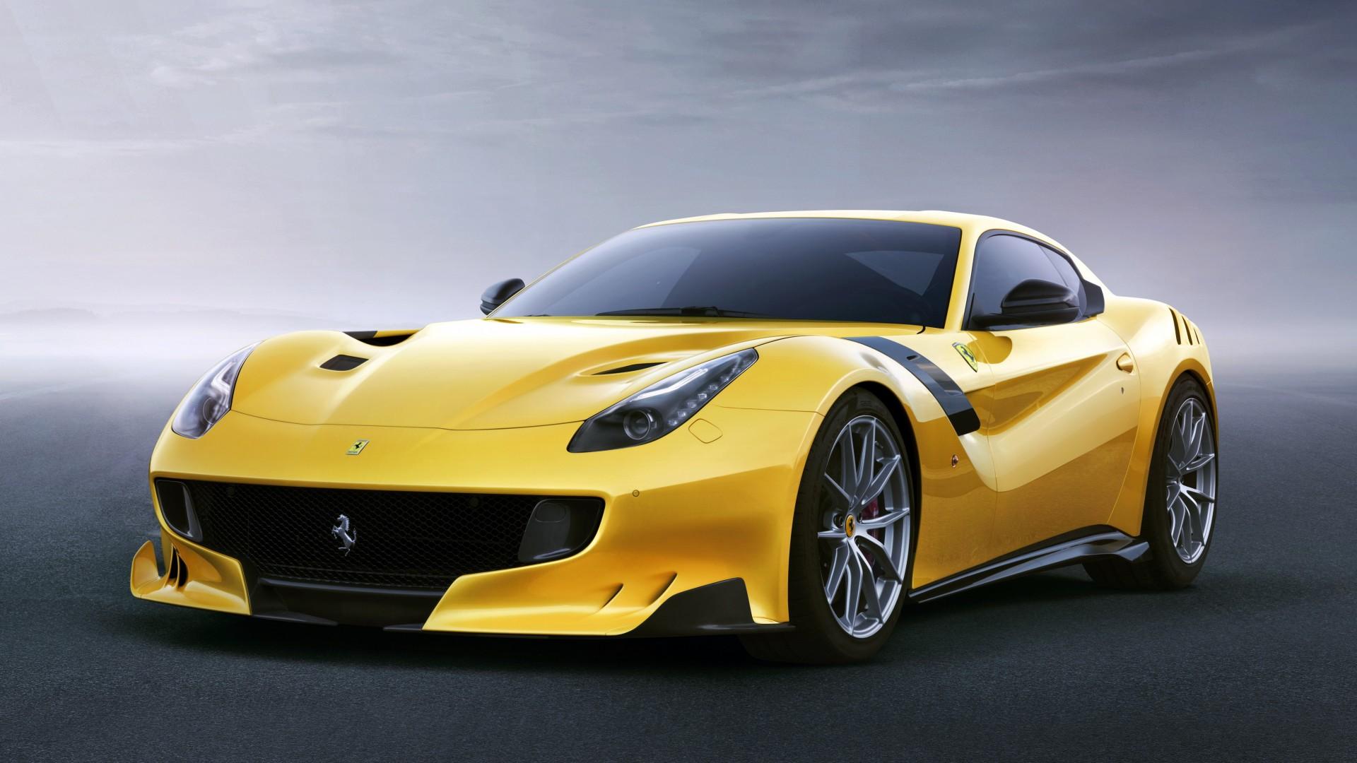 Wallpaper Ferrari F12 Tdf Yellow Sport Car Cars Amp Bikes