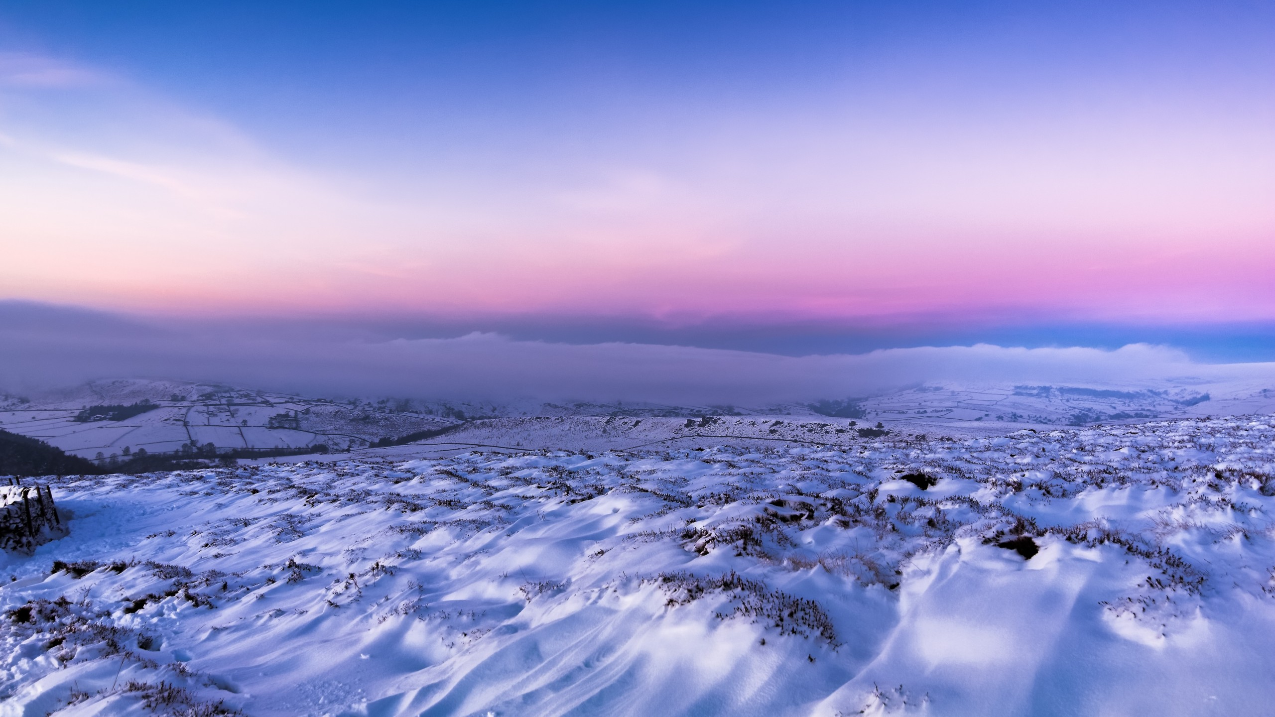 Wallpaper Field Snow Winter 4k Nature 16877