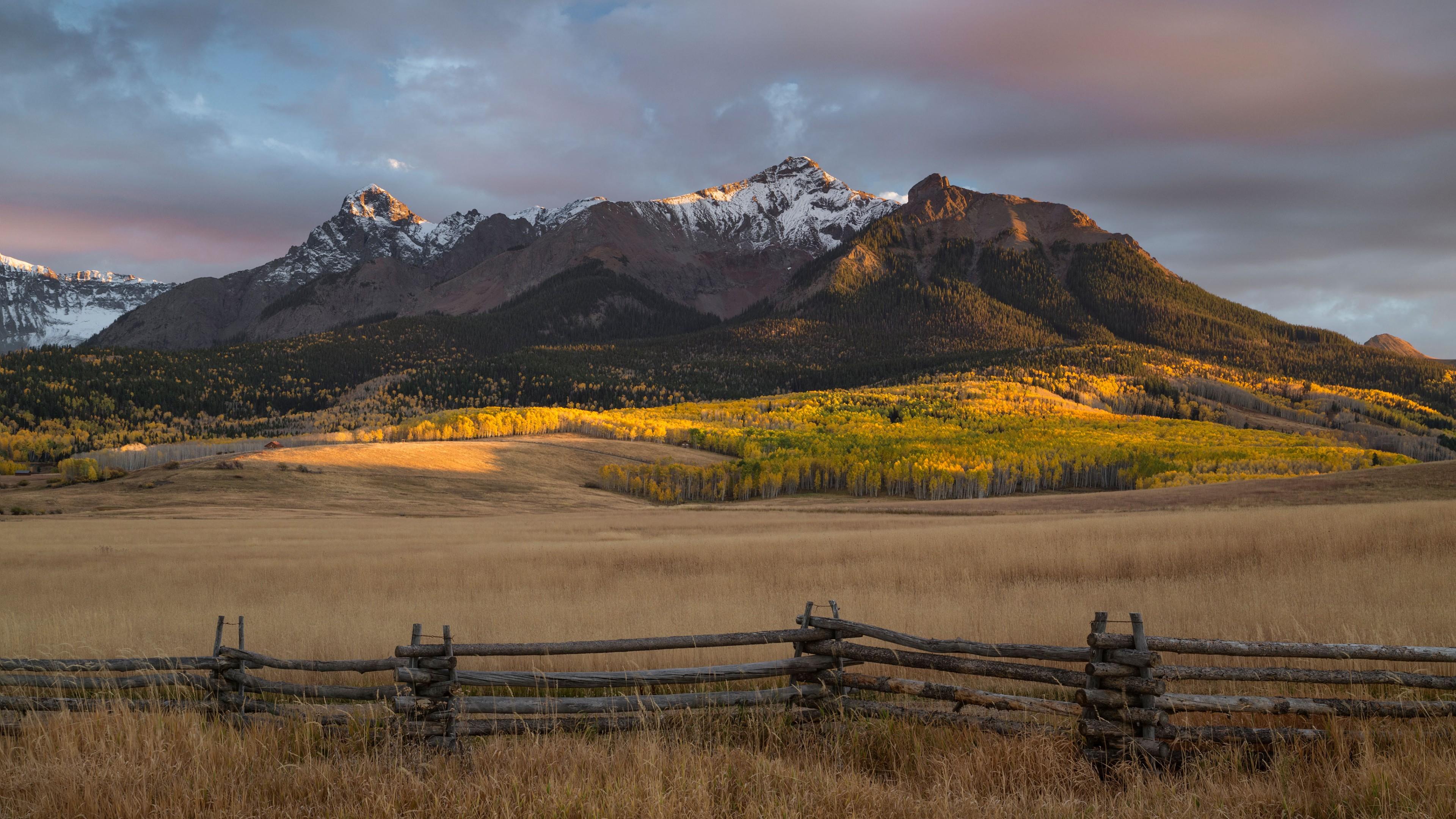 Wallpaper Field Mountains Usa Colorado 4k Nature 16243