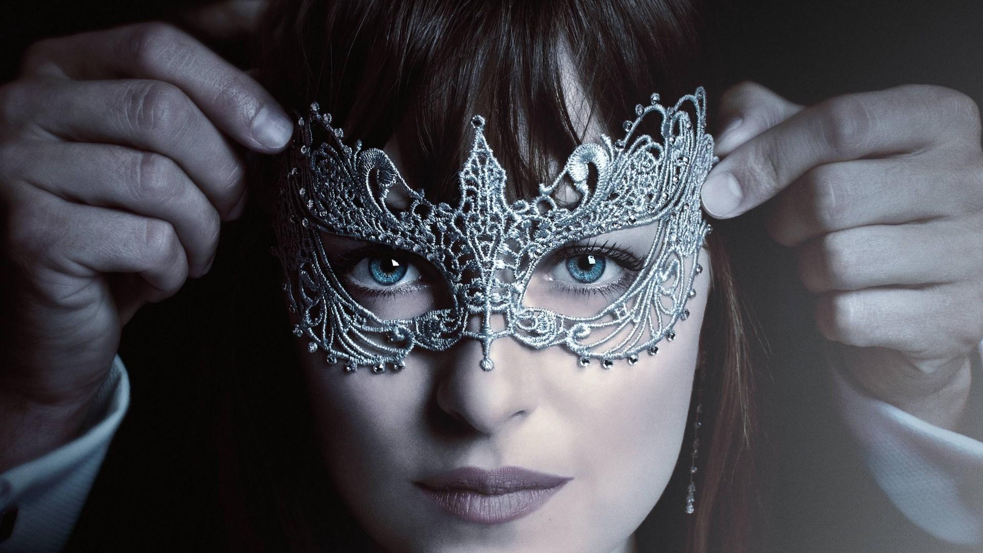 Wallpaper Fifty Shades Darker, Dakota Johnson, mask, best movies, Movies  #11747
