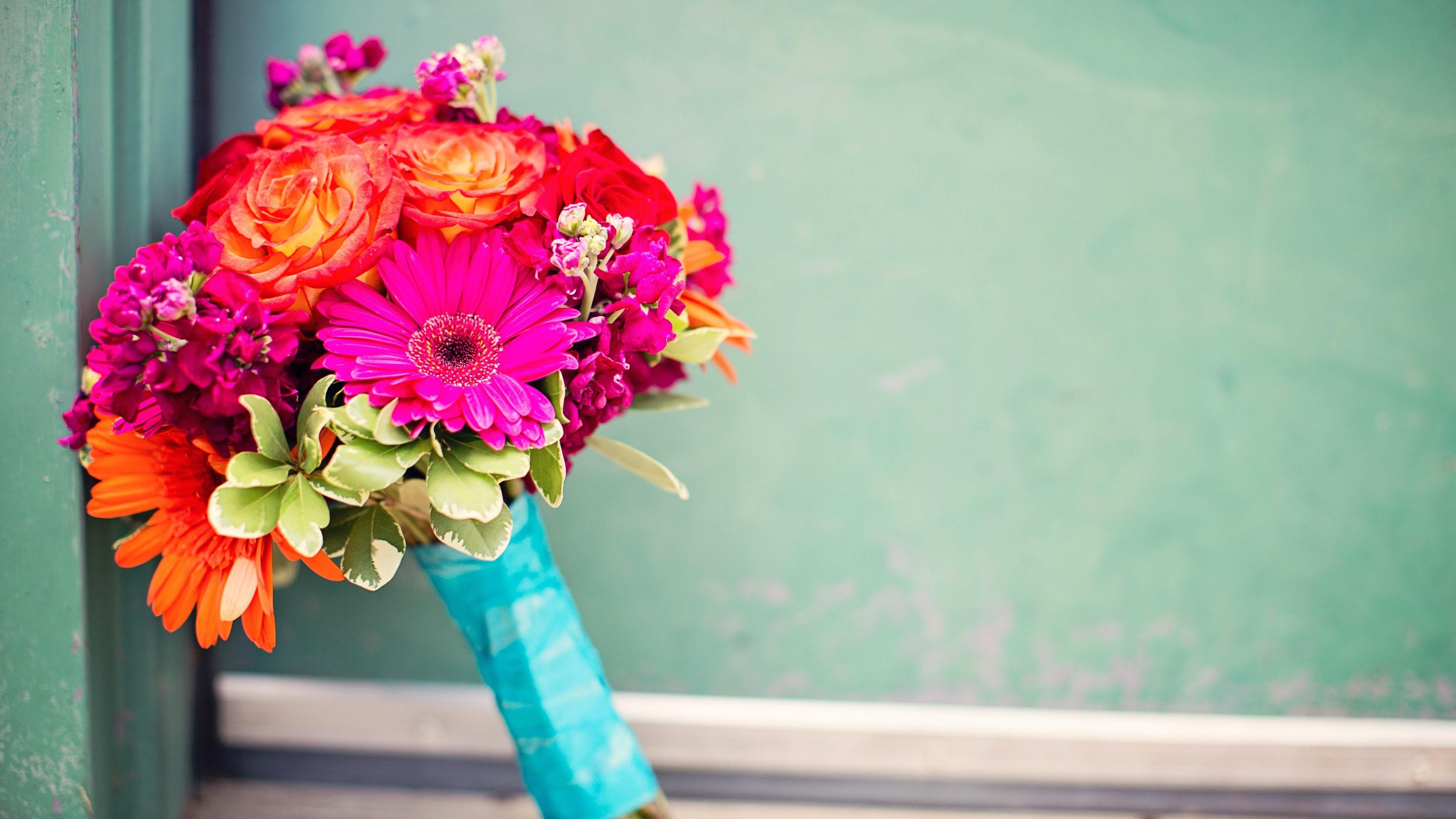 Sport Wallpaper Art: Wallpaper Flower Bouquet, Flowers, Colorful, Holidays #4158