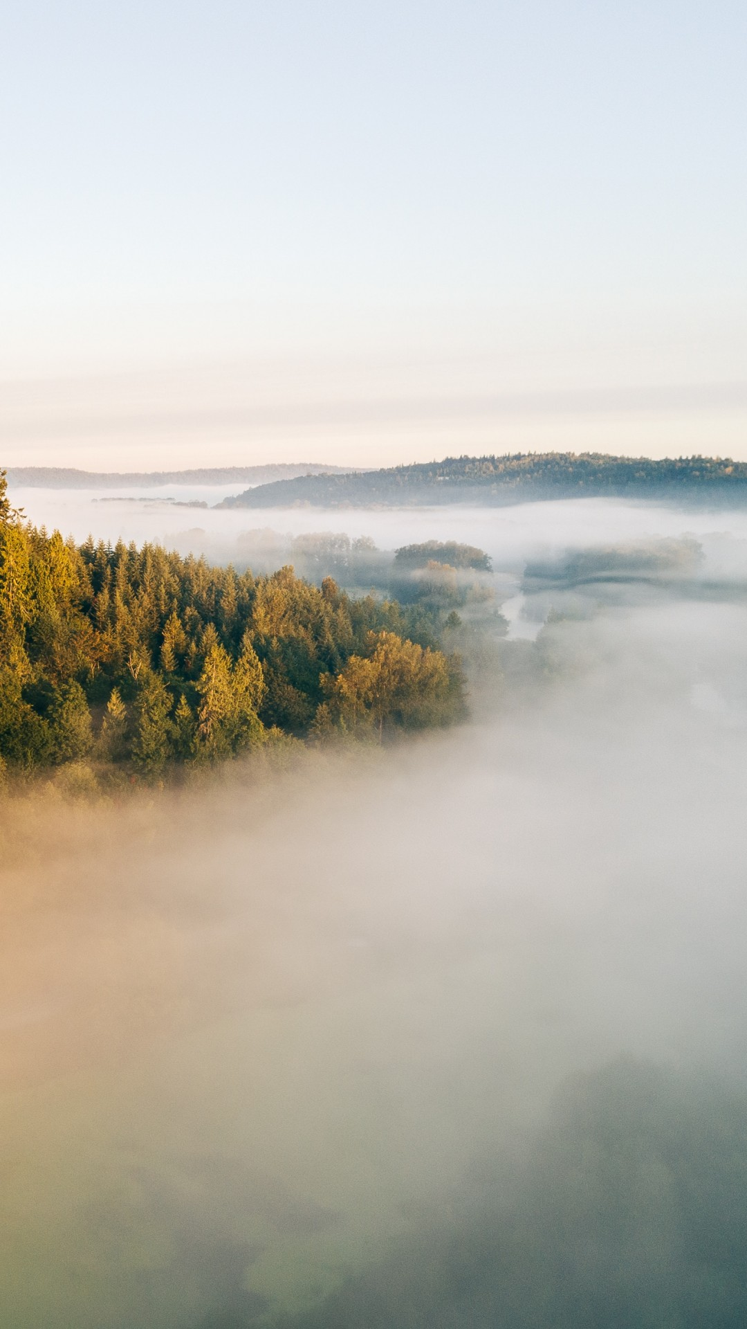 wallpaper fog landscape 4k nature 18339
