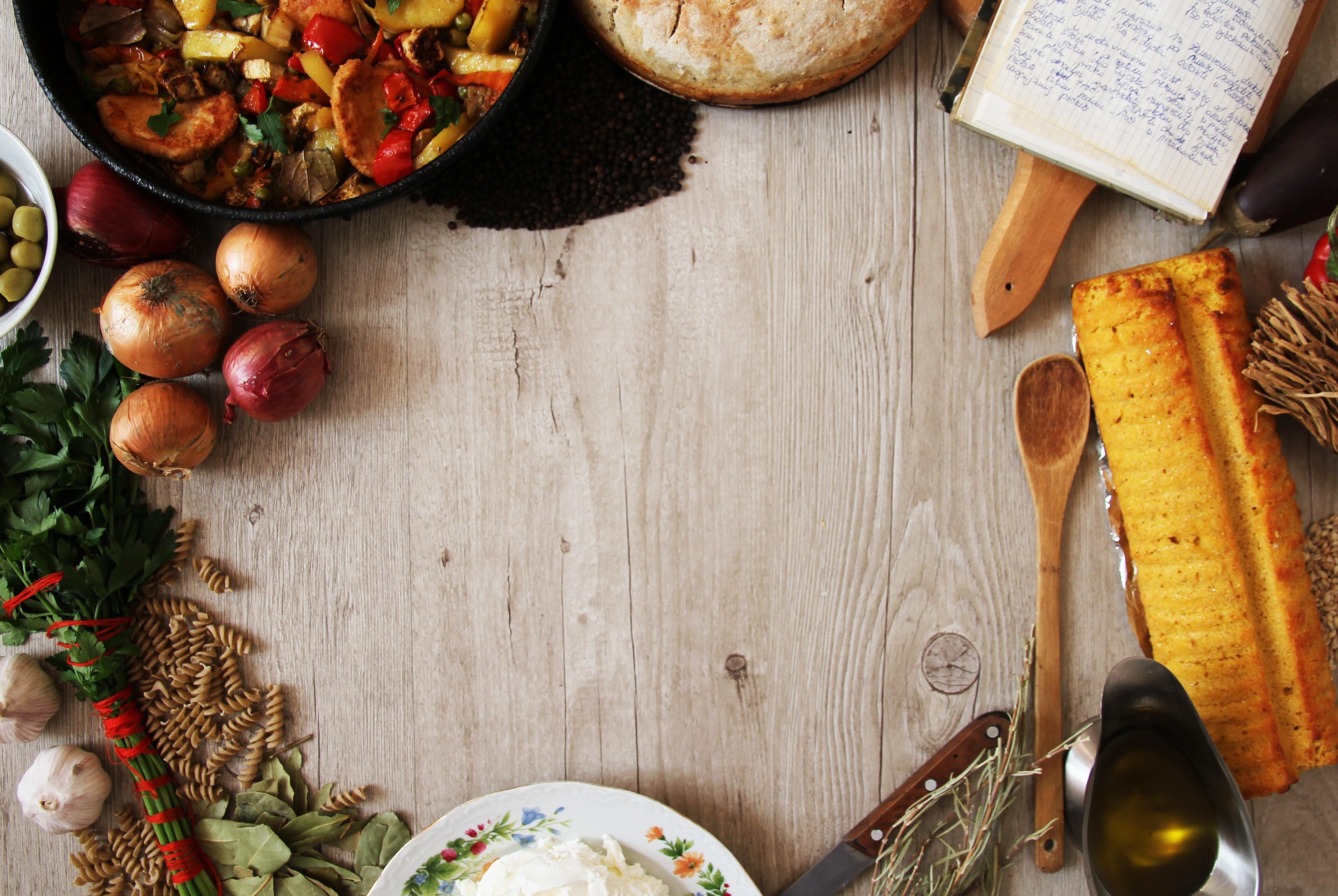 Wallpaper Food, Still Life, Vegetables, Bread, Food #12115