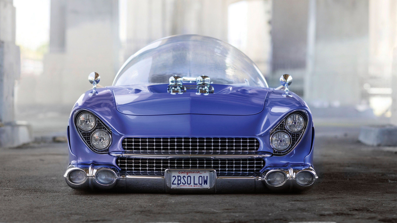 "Car Building Games >> Wallpaper Ford ""Beatnik"" Bubbletop Custom, 1955, retrofuture, future, blue, Cars & Bikes #11182"