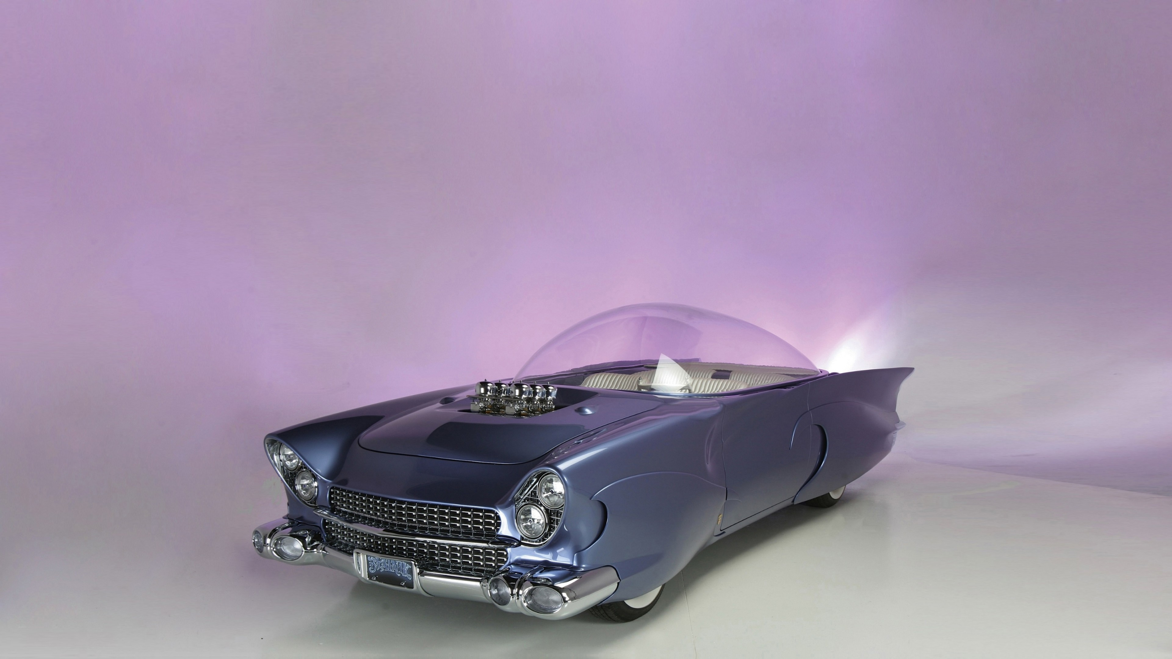 Wallpaper Ford Beatnik Bubbletop Custom 1955 Retrofuture Future