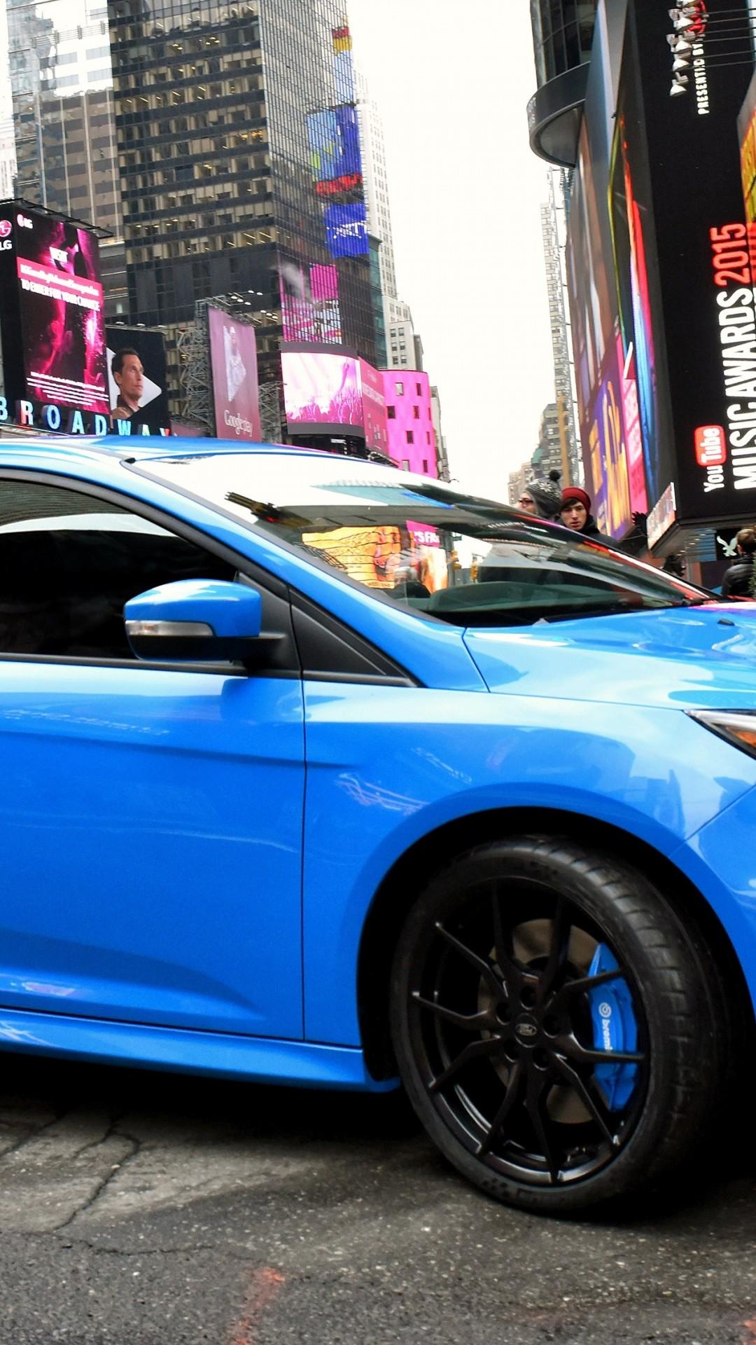 Wallpaper Ford Focus RS 2016, hatchback, blue, Cars ...