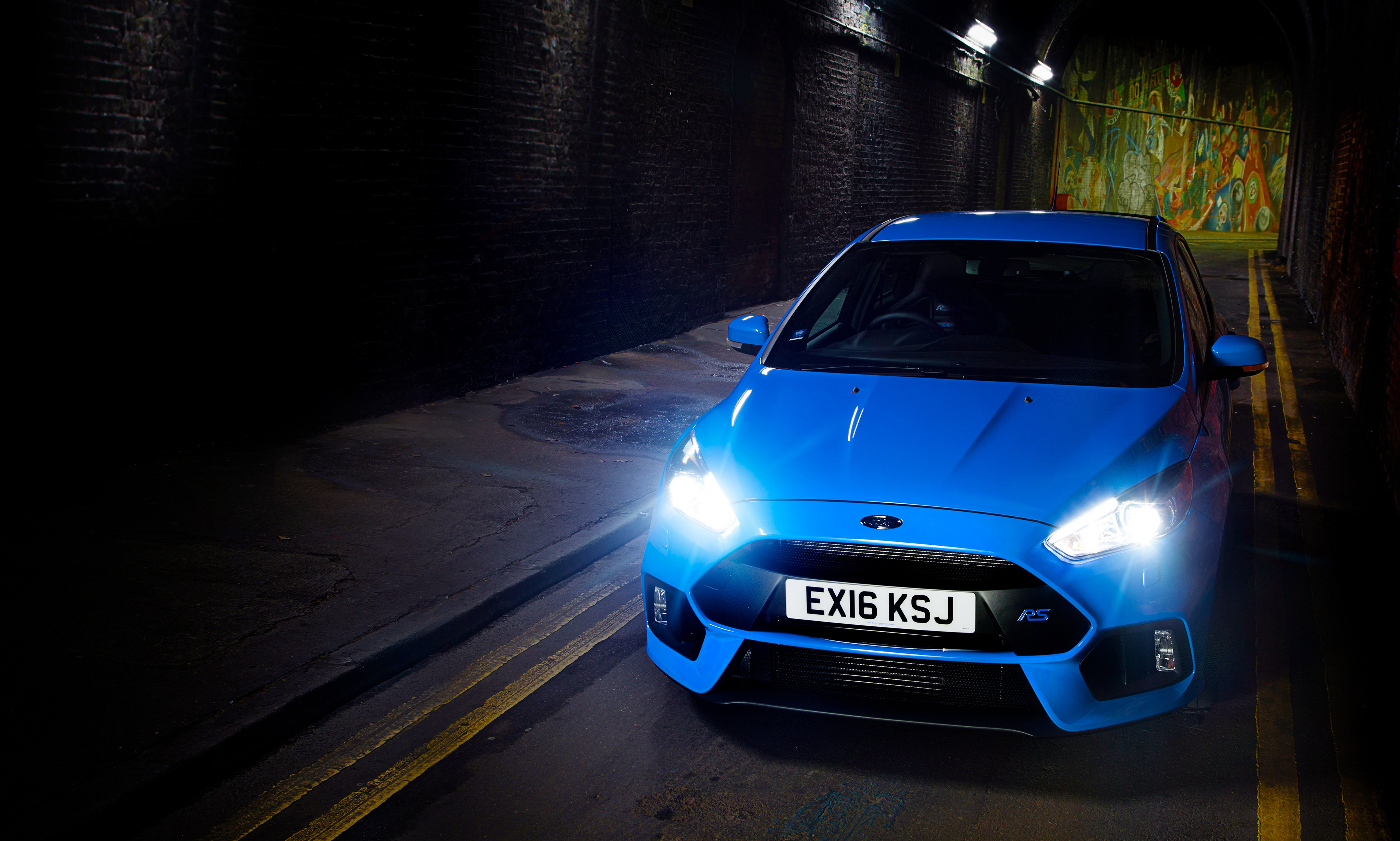 2015 Focus Rs >> Wallpaper Ford Focus RS, hatchback, blue, night, Cars & Bikes #10174