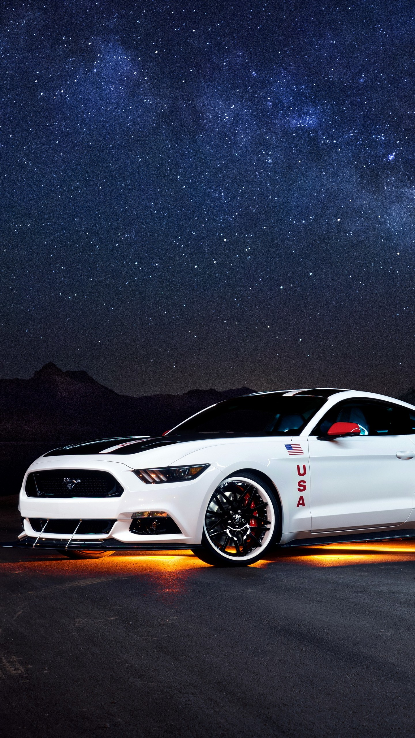 Wallpaper Ford Mustang Apollo Edition Mustang White