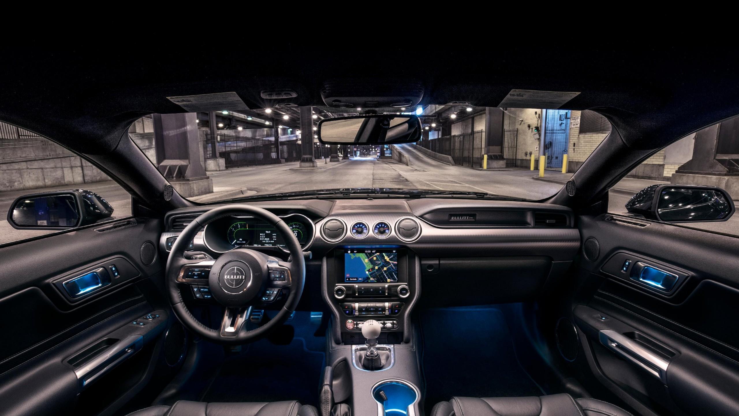 Wallpaper Ford Mustang Bullitt, 2018 Cars, interior, 4k ...