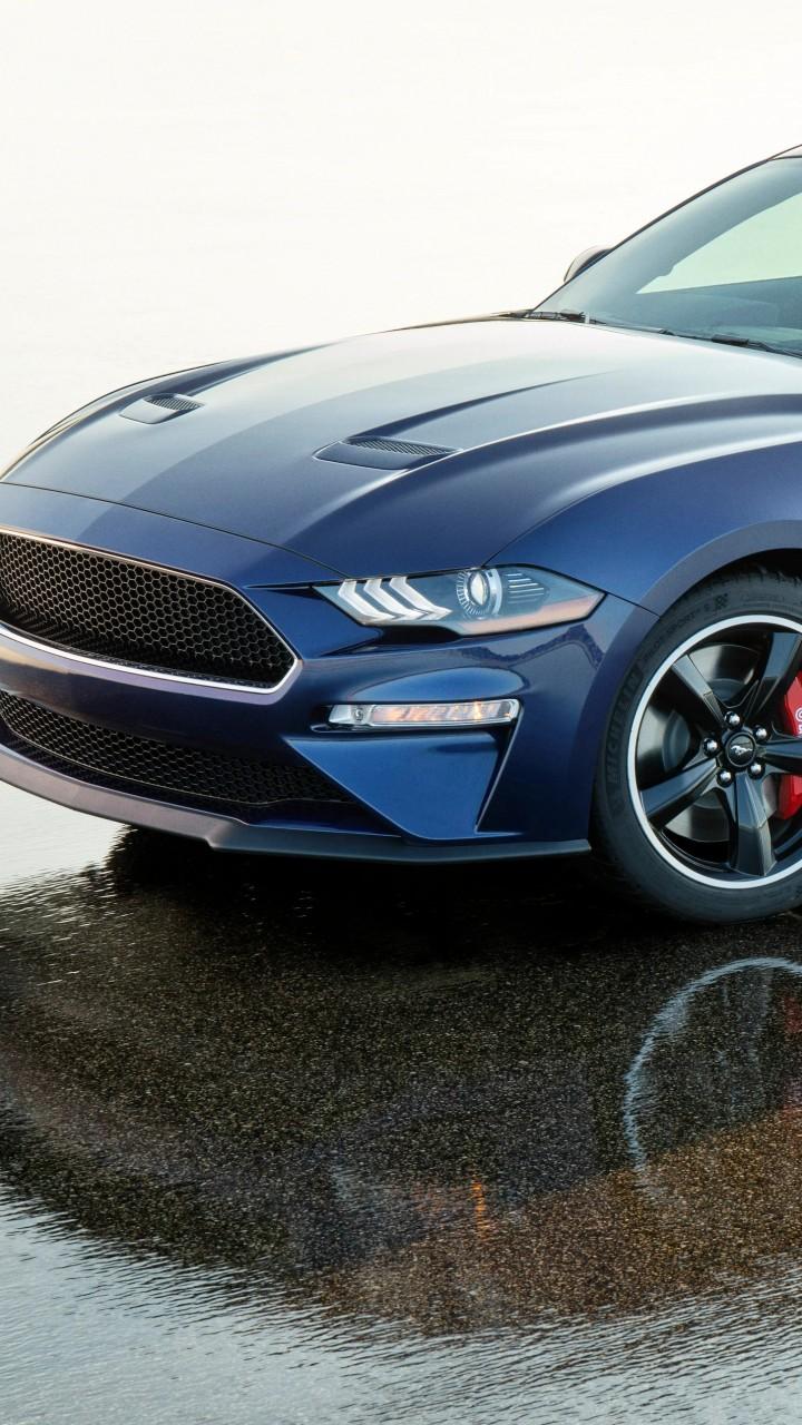Kona Blue Mustang >> Wallpaper Ford Mustang Bullitt Kona Blue, 2019 Cars, 5K, Cars & Bikes #20173