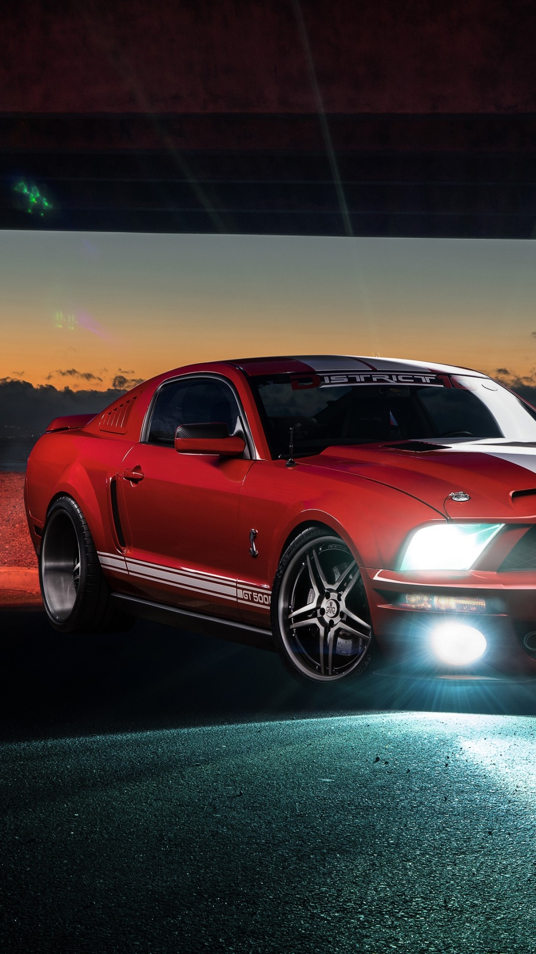 Wallpaper Ford Mustang Shelby Gt500 Speed Night Red
