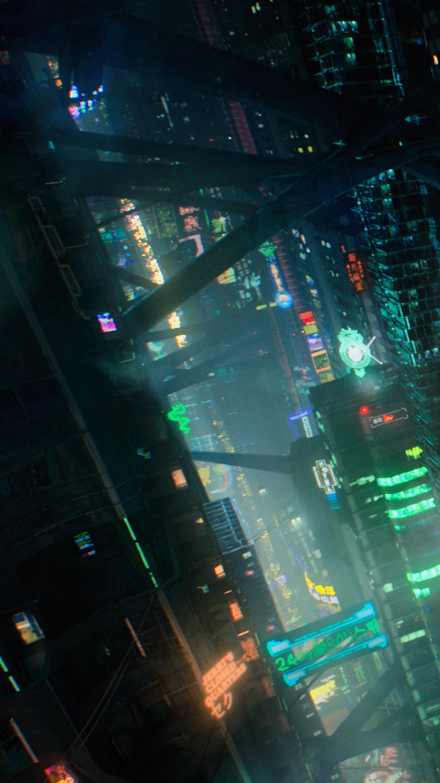 Wallpaper futuristic cyberpunk future world 4K Art 20446