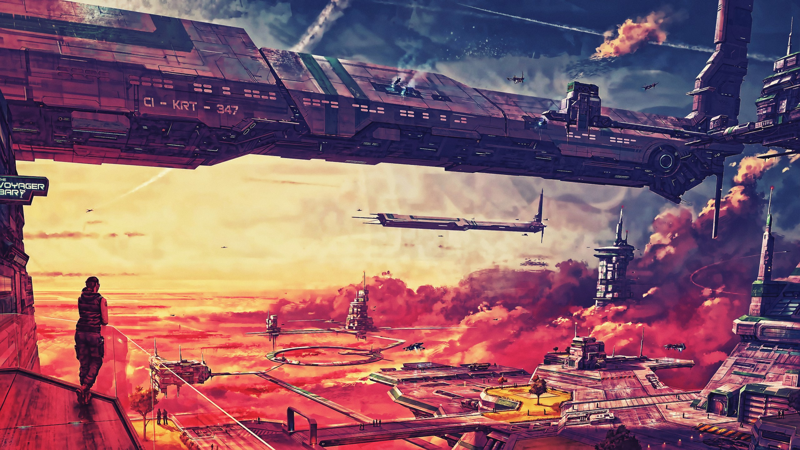 Wallpaper Futuristic Spaceship Future World 4k Art 20317