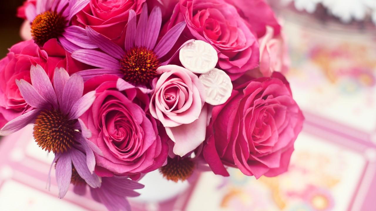 Wallpaper Garden Roses 4k Hd Wallpaper Flower Bouquet Pink