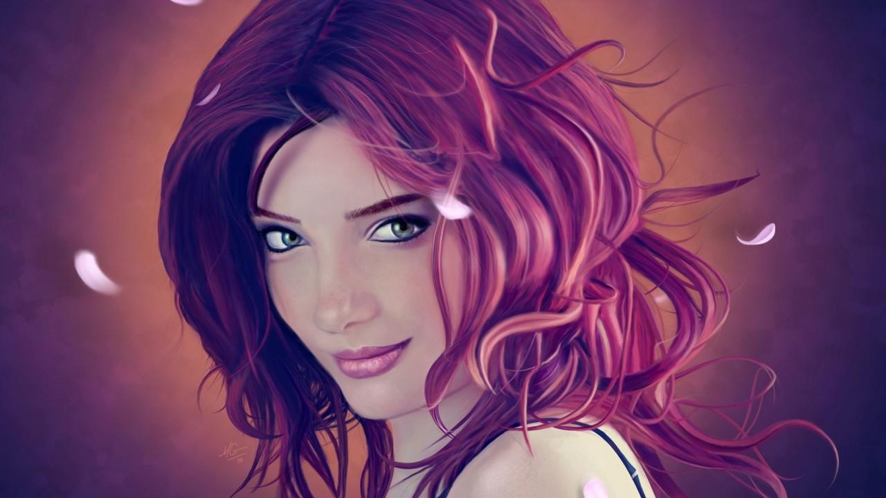 Wallpaper Girl Portrait Art Girls 3965