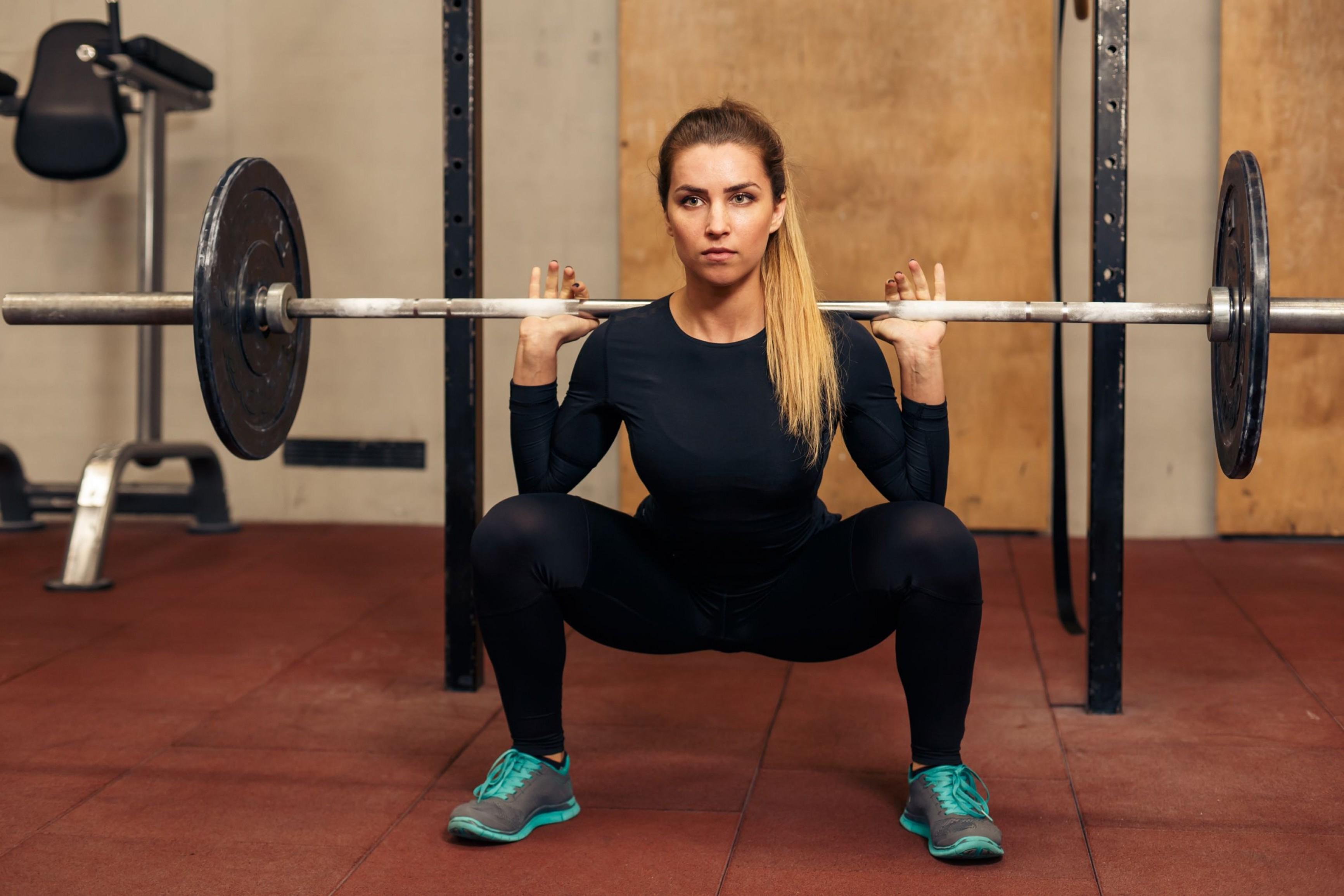 Wallpaper Girl, fitness, exercise, gym, dumbbells, workout ...