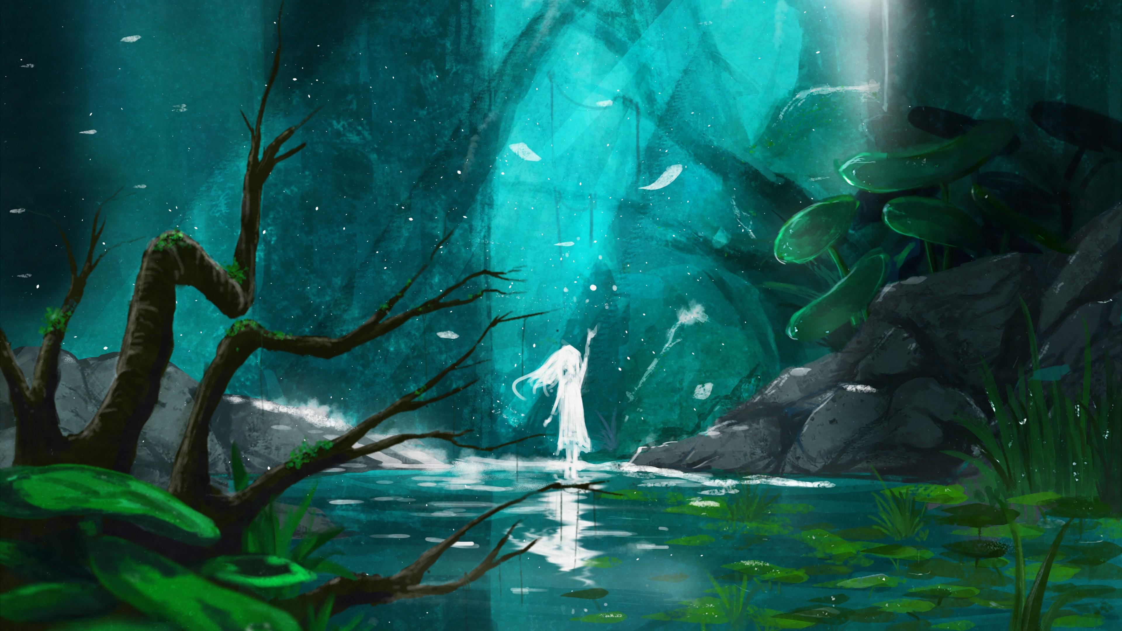Wallpaper Girl Fantasy Forest World 4k Art 18538 Page 2