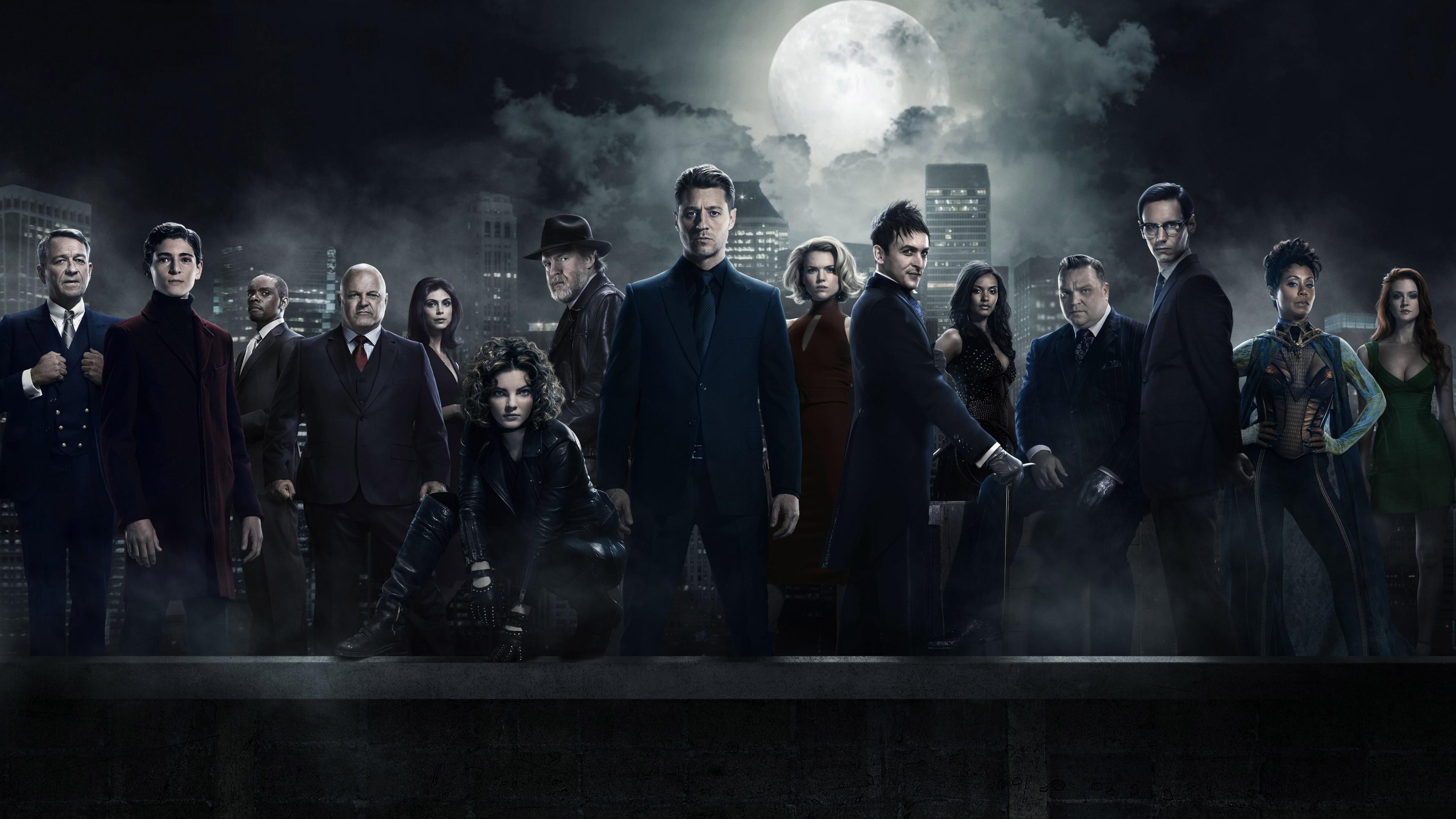 Wallpaper Gotham 3 season, Gotham, TV Series, crime, Movies