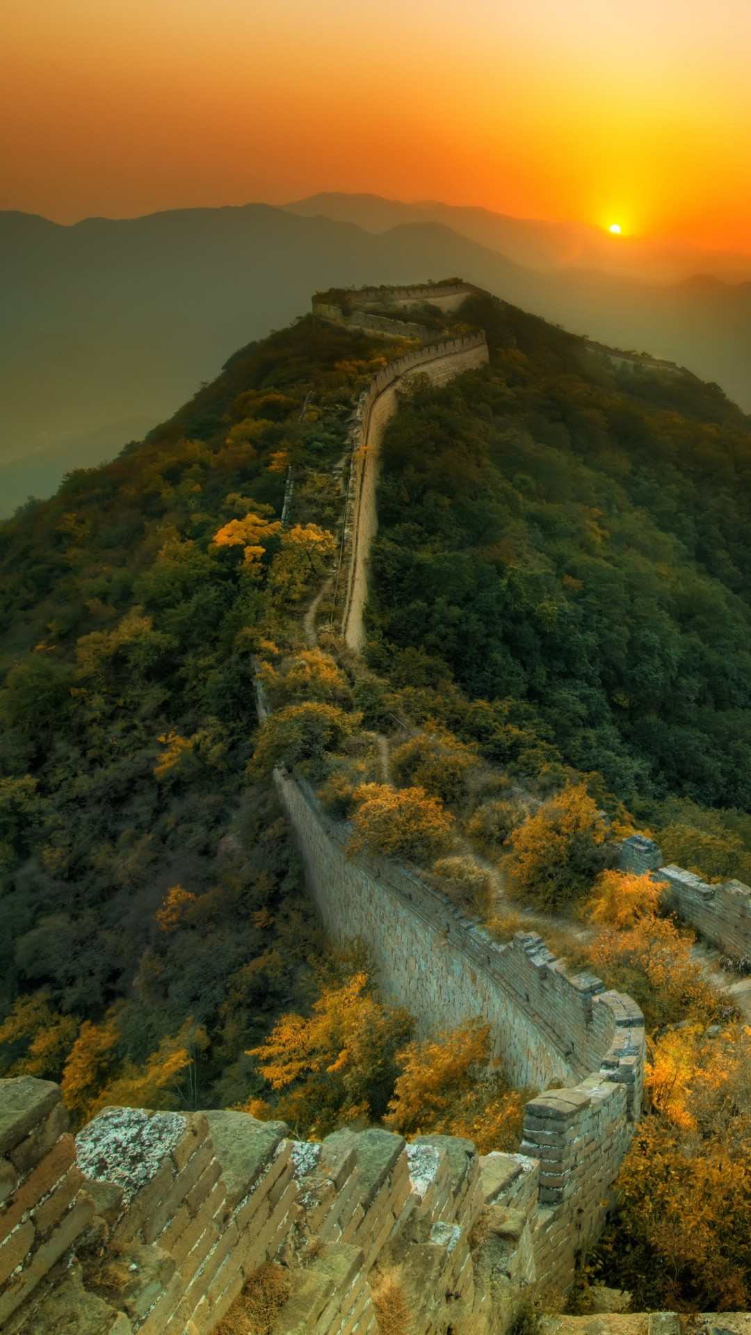 Wallpaper Great Wall Of China Travel Tourism Sunset