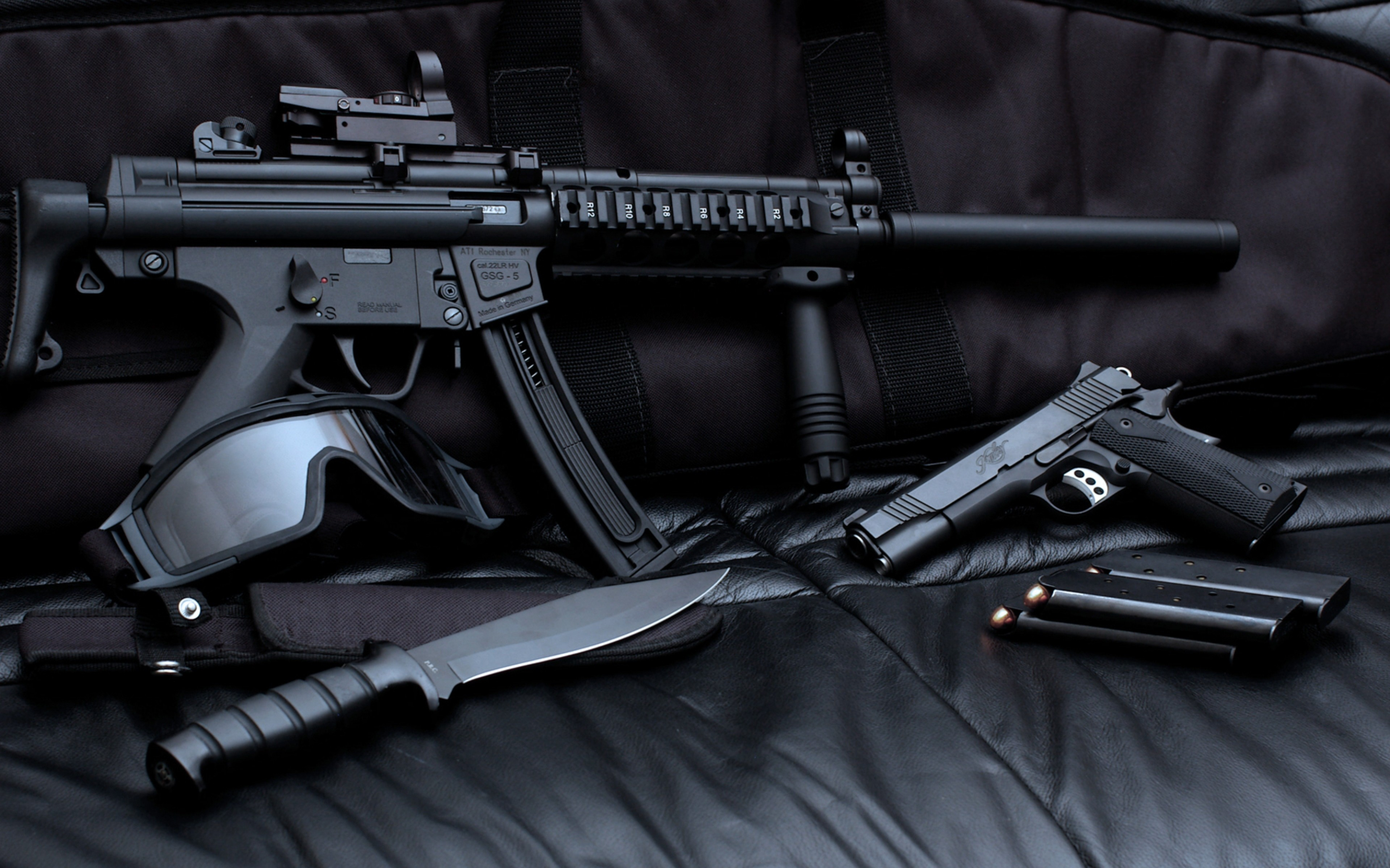 108 Best Images About Weapons Wallpapers On Pinterest: Wallpaper Gsg 5, M1911, Knife, TACTICAL GOGGLES, Military