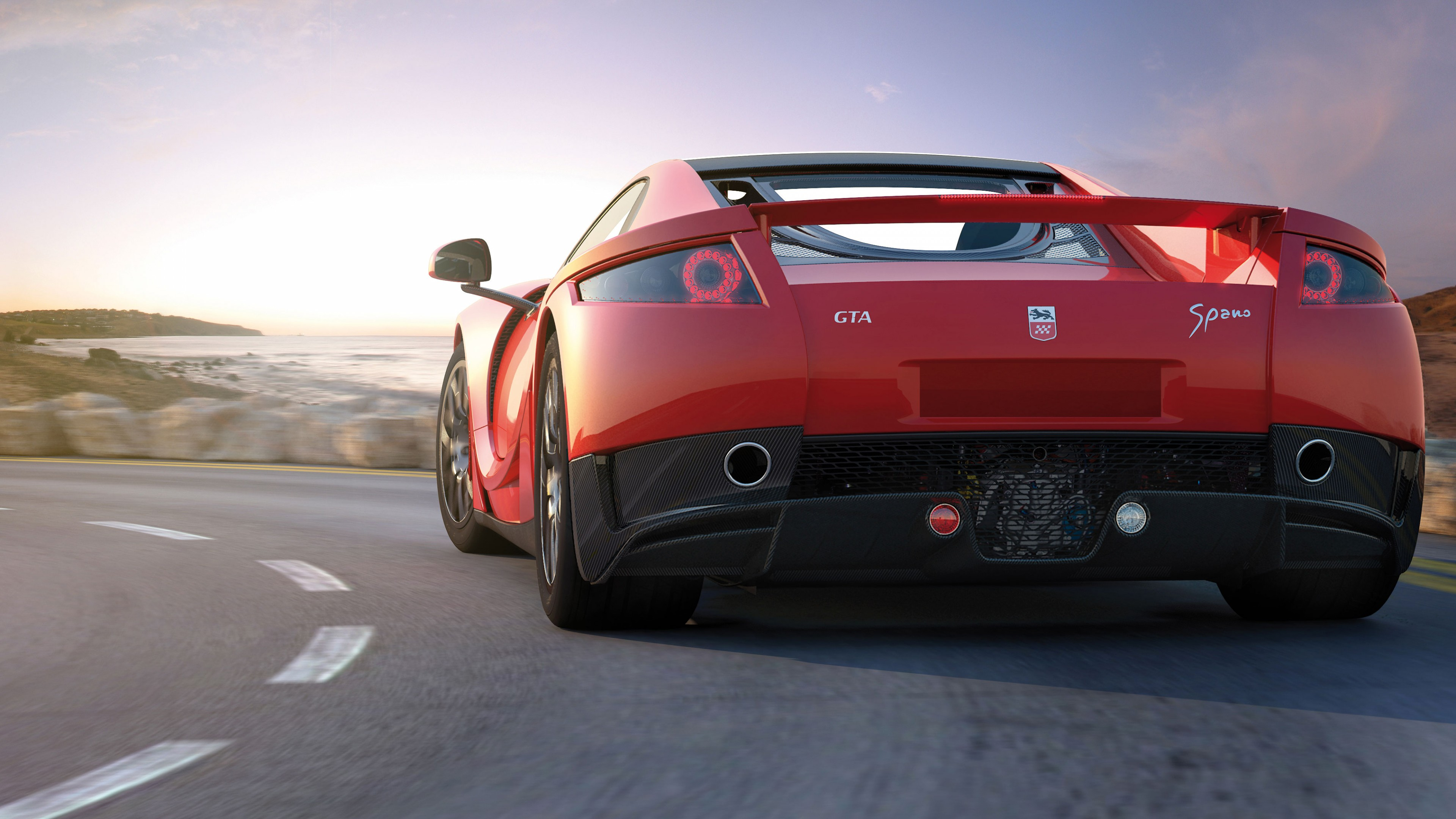 Wallpaper GTA Spano Supercar Coupe Red Cars Amp Bikes 6121